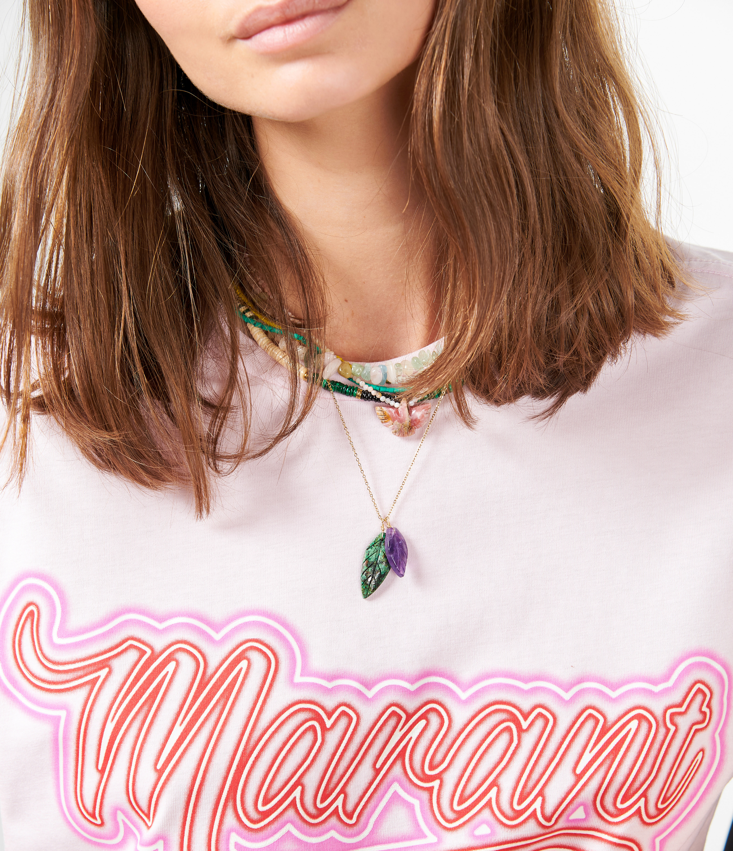 ISABEL MARANT - Tee-shirt Zaof Coton Rose Clair