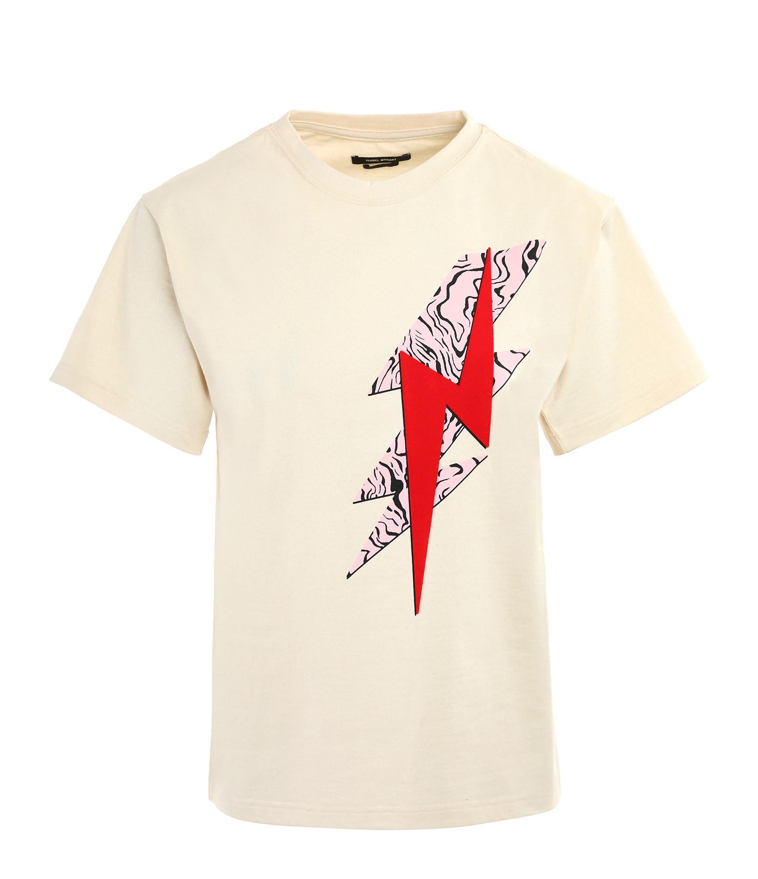 ISABEL MARANT - Tee-shirt Yates Coton Ecru