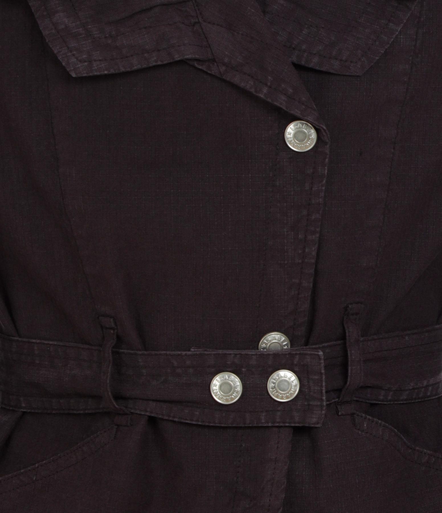 ISABEL MARANT - Veste Epaline Lin Coton Bleu Nuit