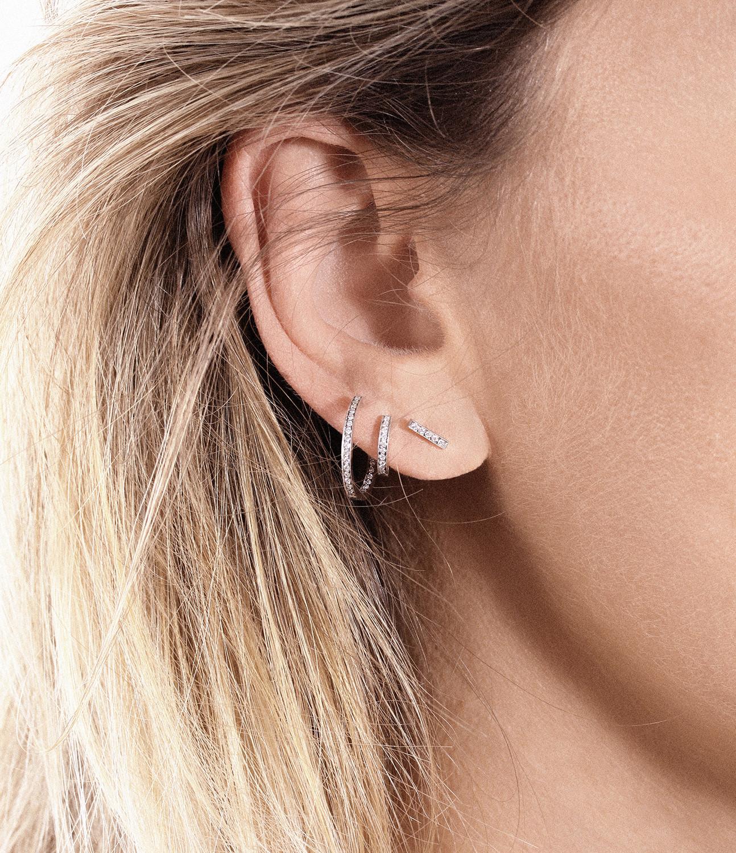 VANRYCKE - Boucle d'oreille Medellin PM Or Blanc Diamants (vendue à l'unité)
