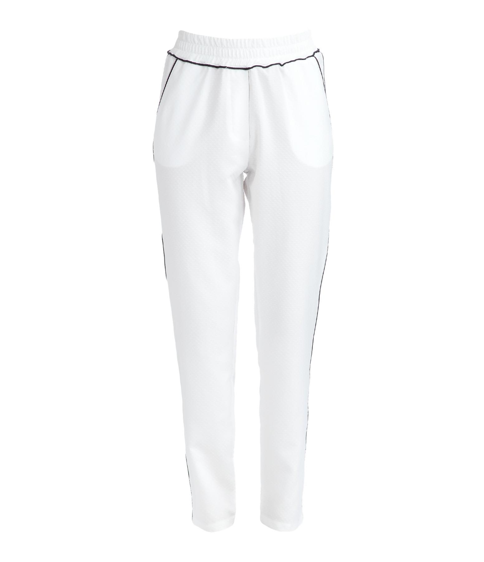 TOOSHIE - Pantalon Capri Blanc Noir