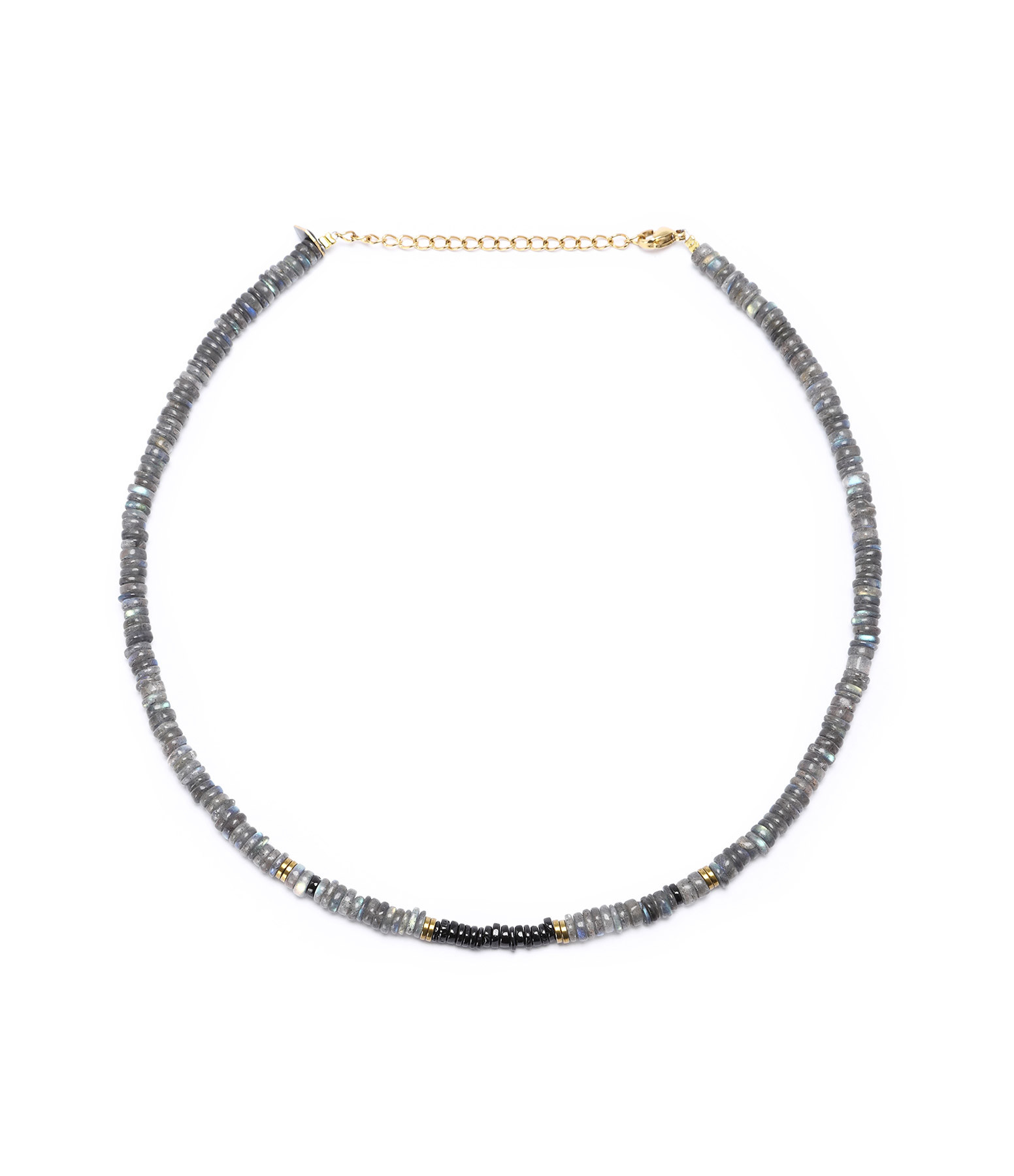 MON PRECIEUX GEM - Collier Puka Onyx Labradorite