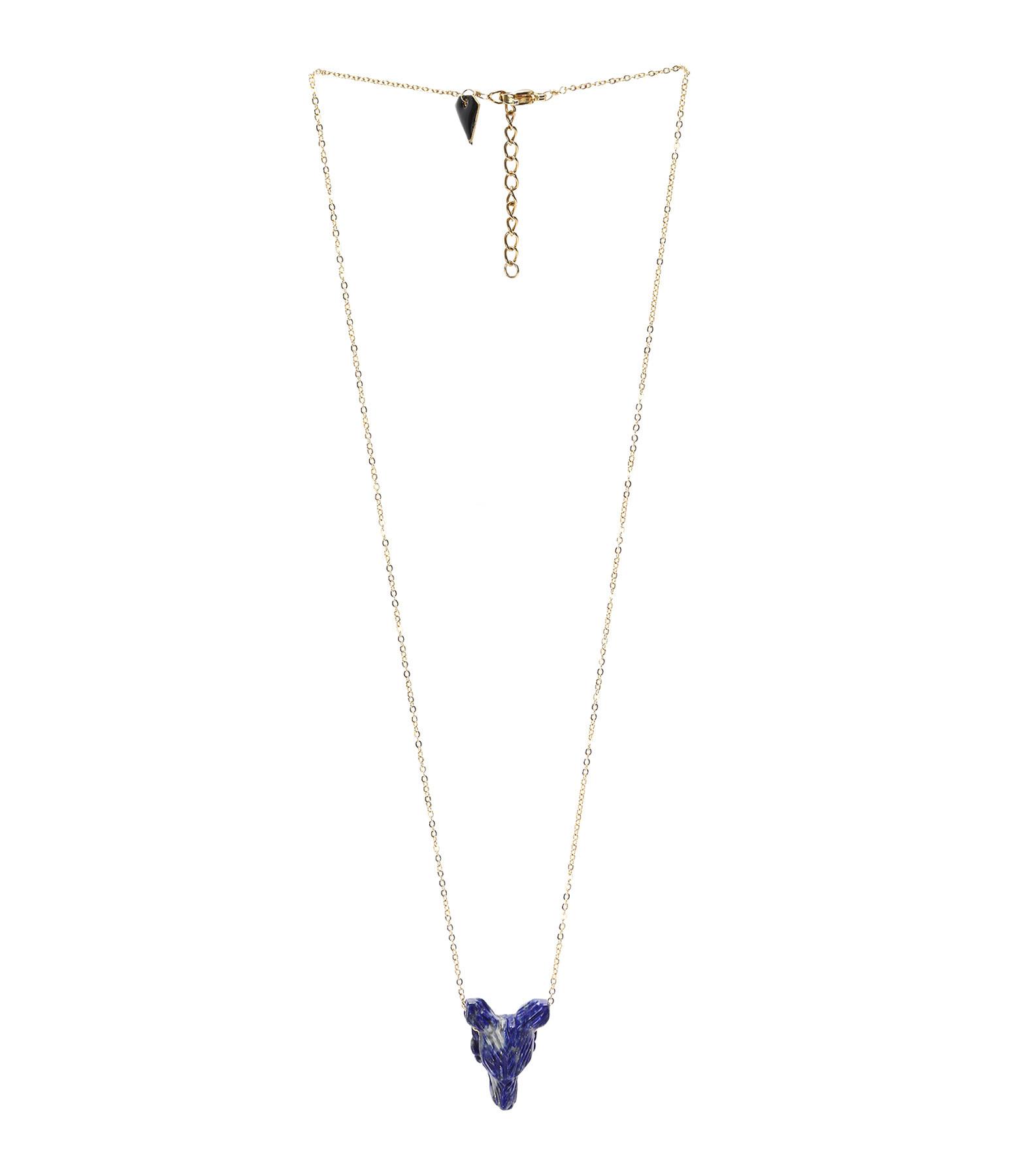 MON PRECIEUX GEM - Collier Loup S Lapis-Lazuli