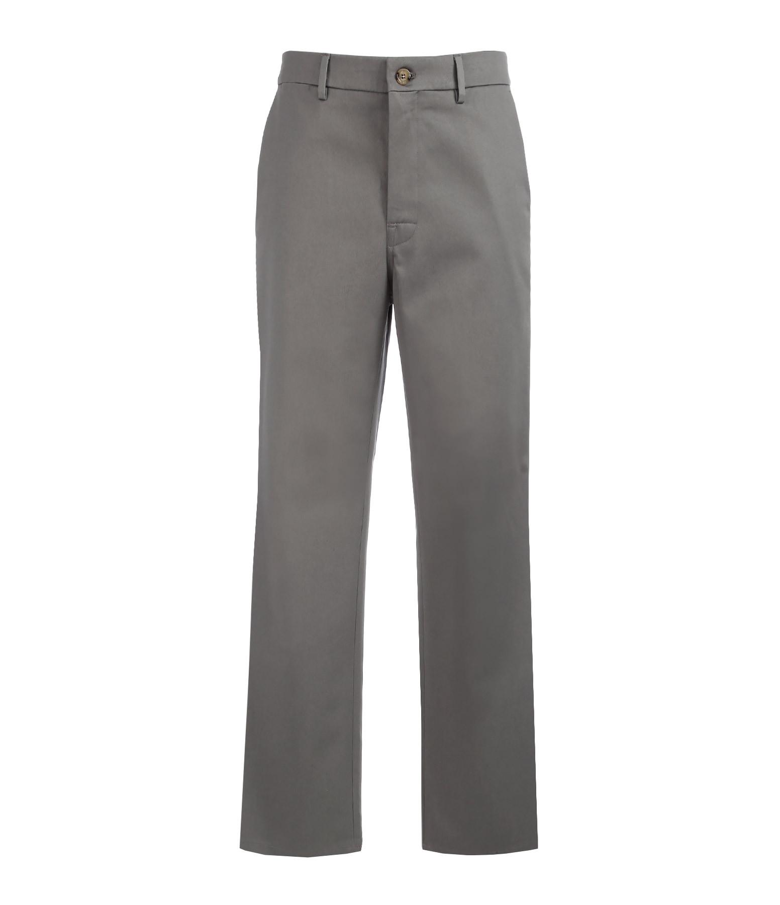 Pantalon Chino Homme Coton Gris - GOLDEN GOOSE