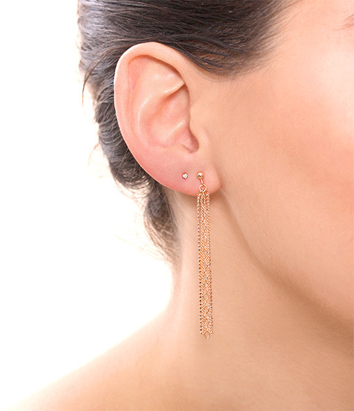 Boucles d'or. Mini Diamond Puces - GINETTE_NY