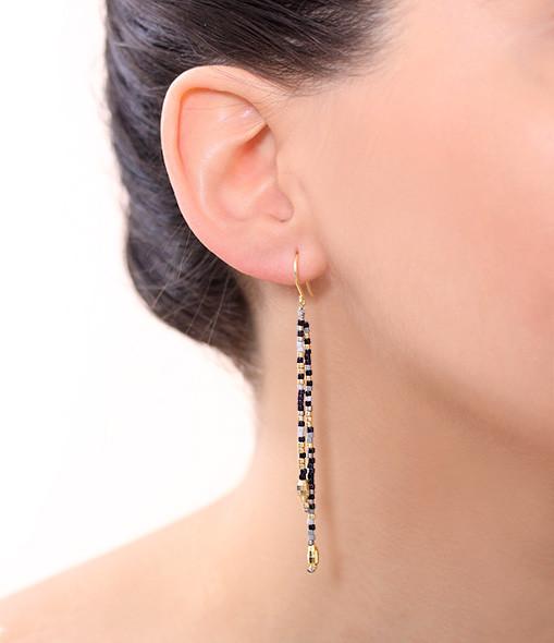 Boucles d'oreilles Pendantes Perles Multicolores - SAB AND SAB
