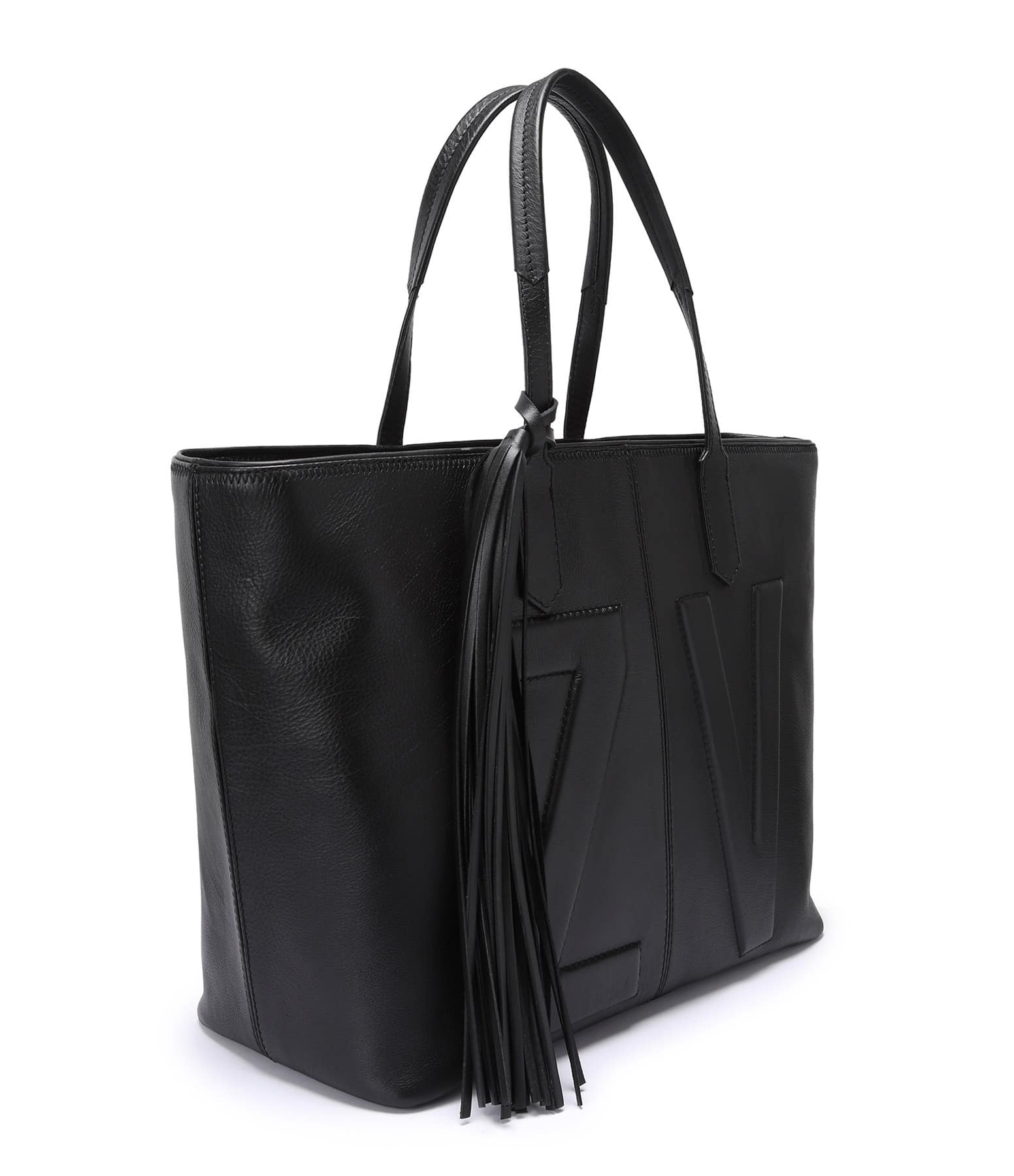 ZADIG & VOLTAIRE - Sac Mick Initial Cuir Noir