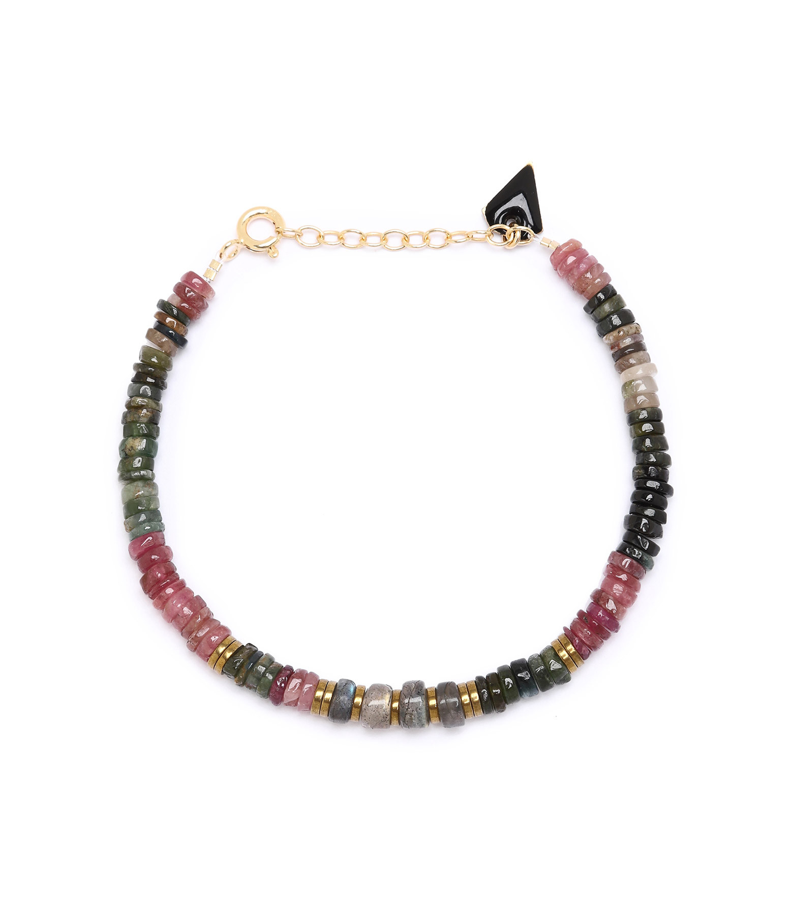 MON PRECIEUX GEM - Bracelet Puka M Tourmaline Labradorite