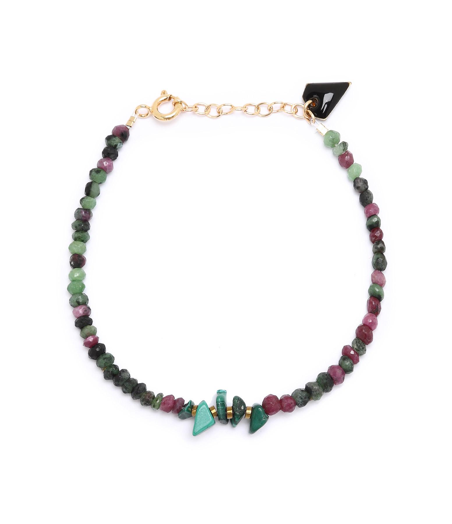 MON PRECIEUX GEM - Bracelet Facettes Rubis zoisite Malachite