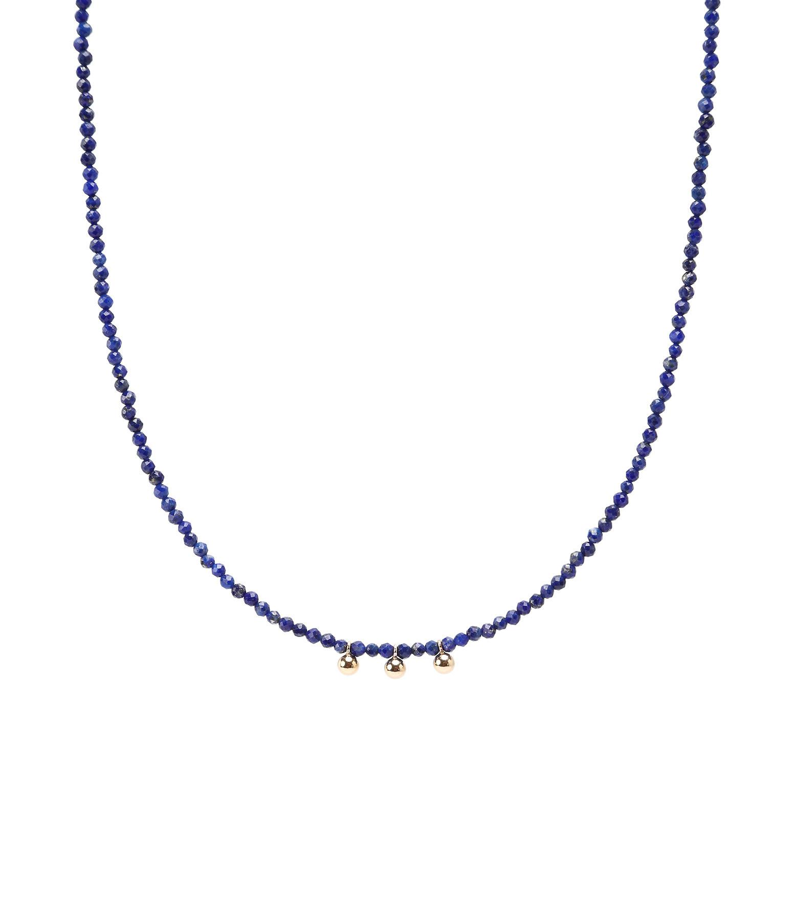 MON PRECIEUX GEM - Collier Facettes Lapis lazuli