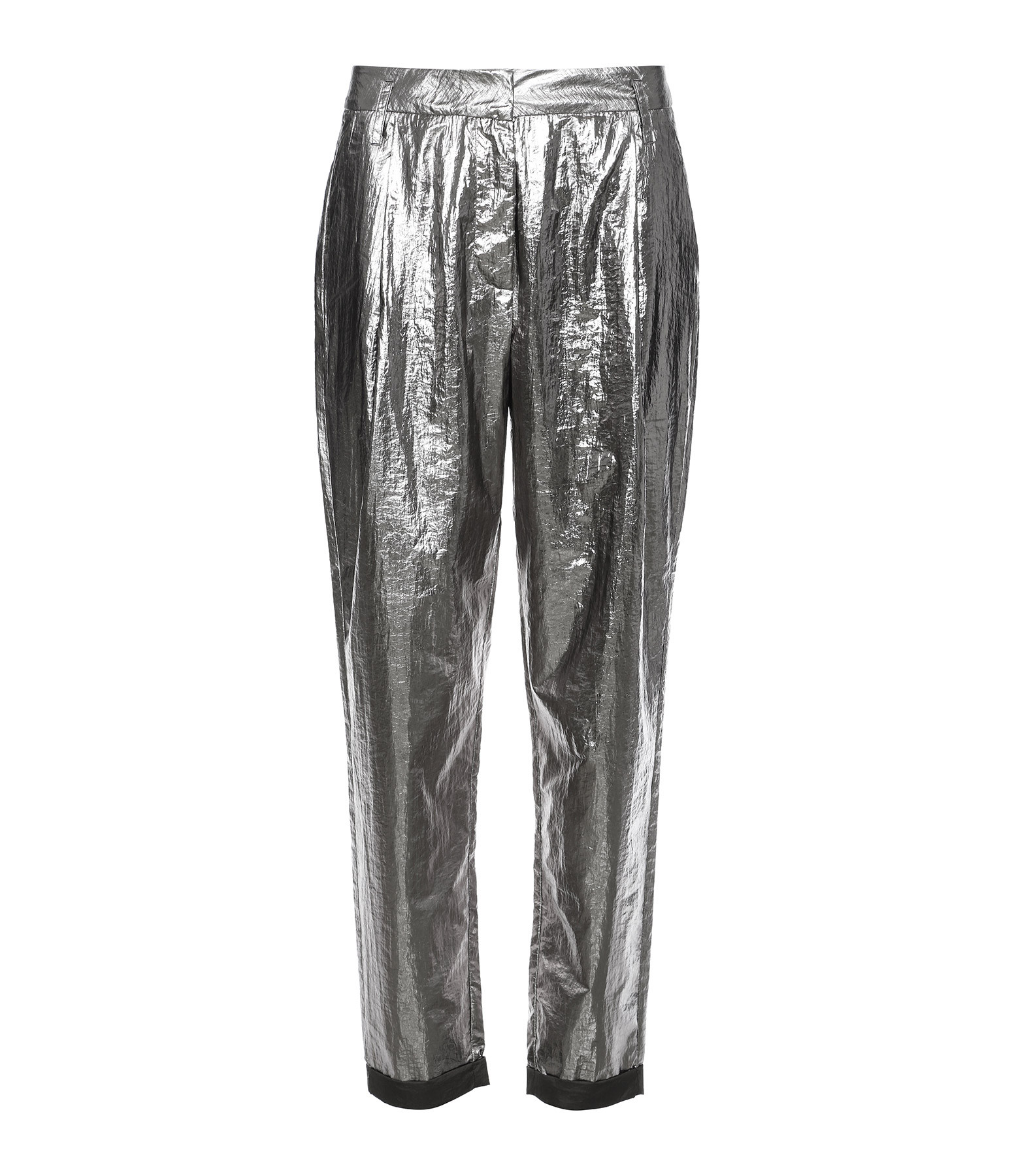 RABENS SALONER - Pantalon Dorah Parachute Foil Argenté