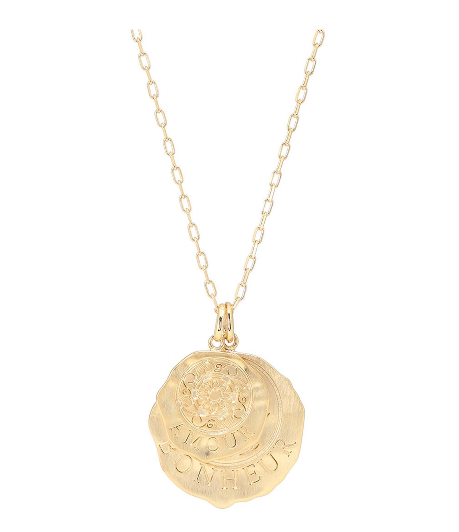 LES FÉLICITÉS - Collier Médailles Bonheur Amour