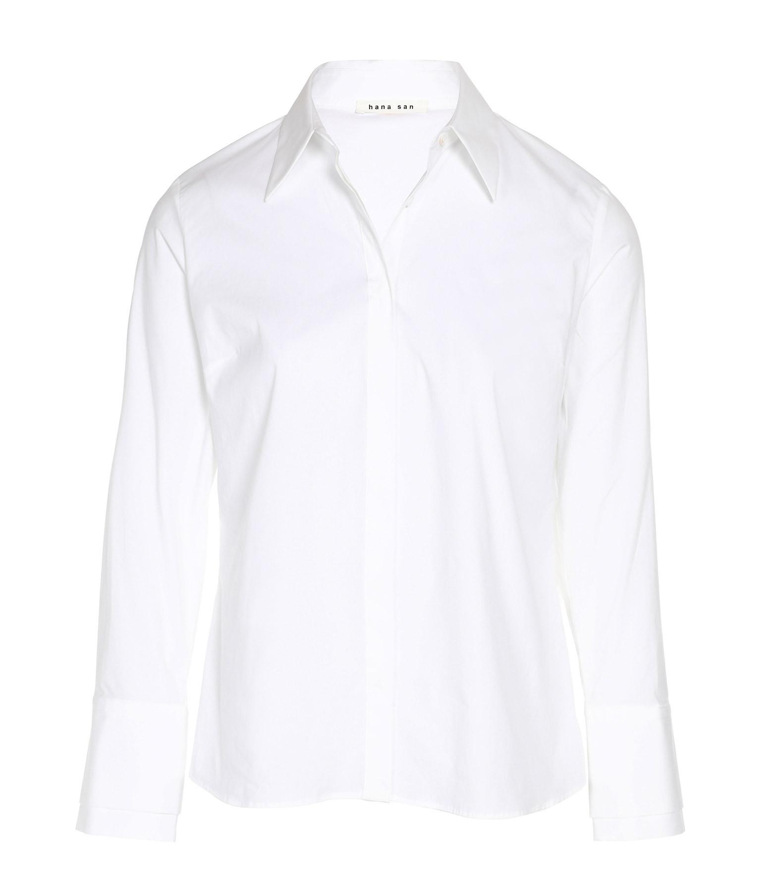 HANA SAN - Chemise Lila Coton Blanc