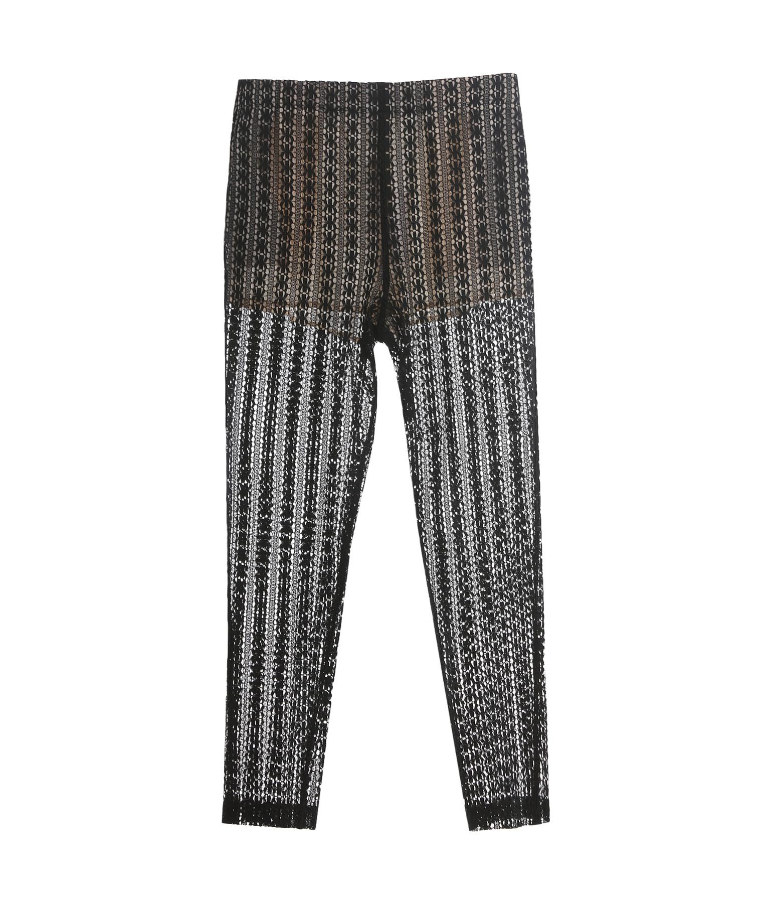 Pantalon Dentelle Coton Noir - Forte_Forte