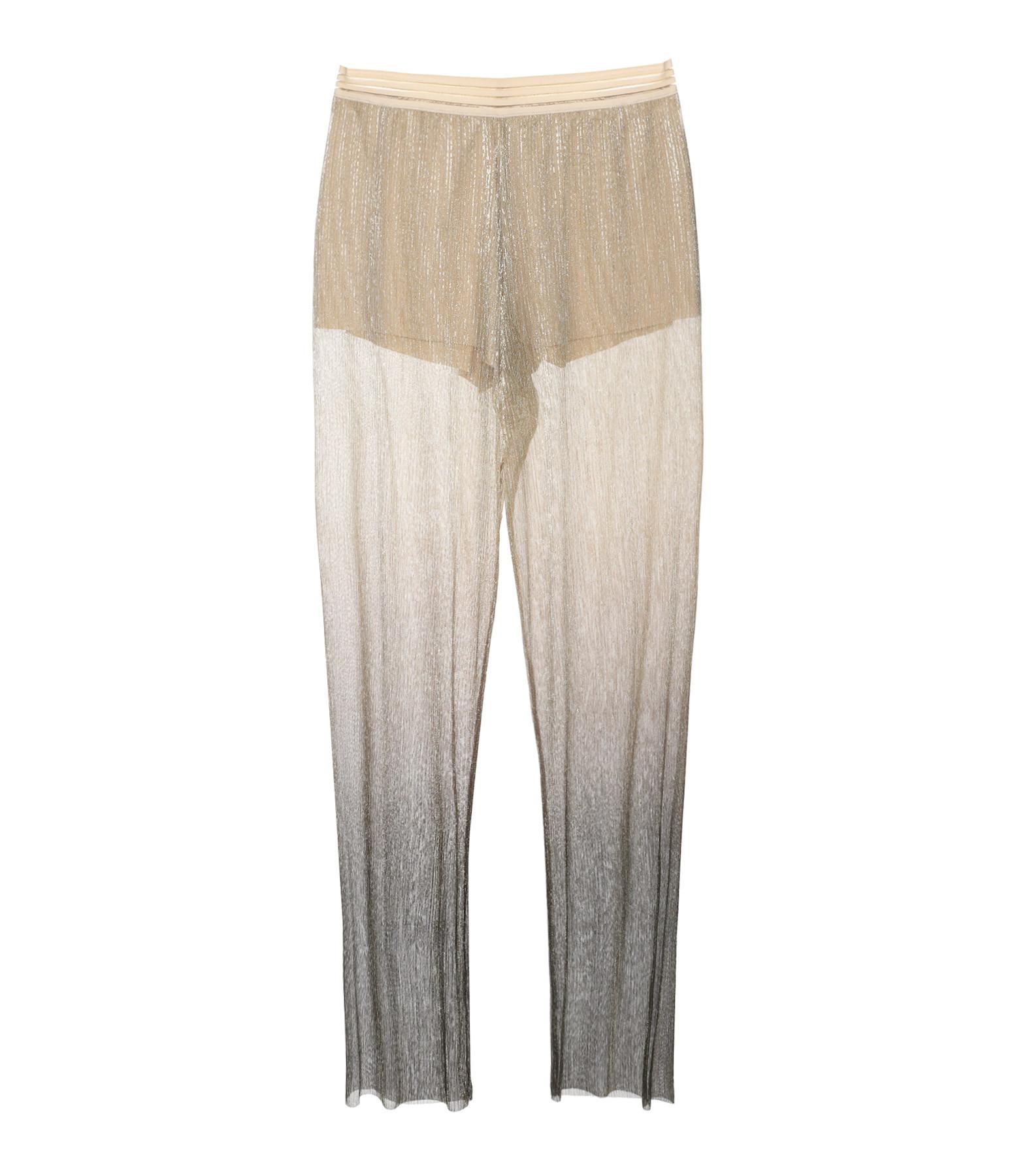RABENS SALONER - Pantalon Ombre Meluca Noir