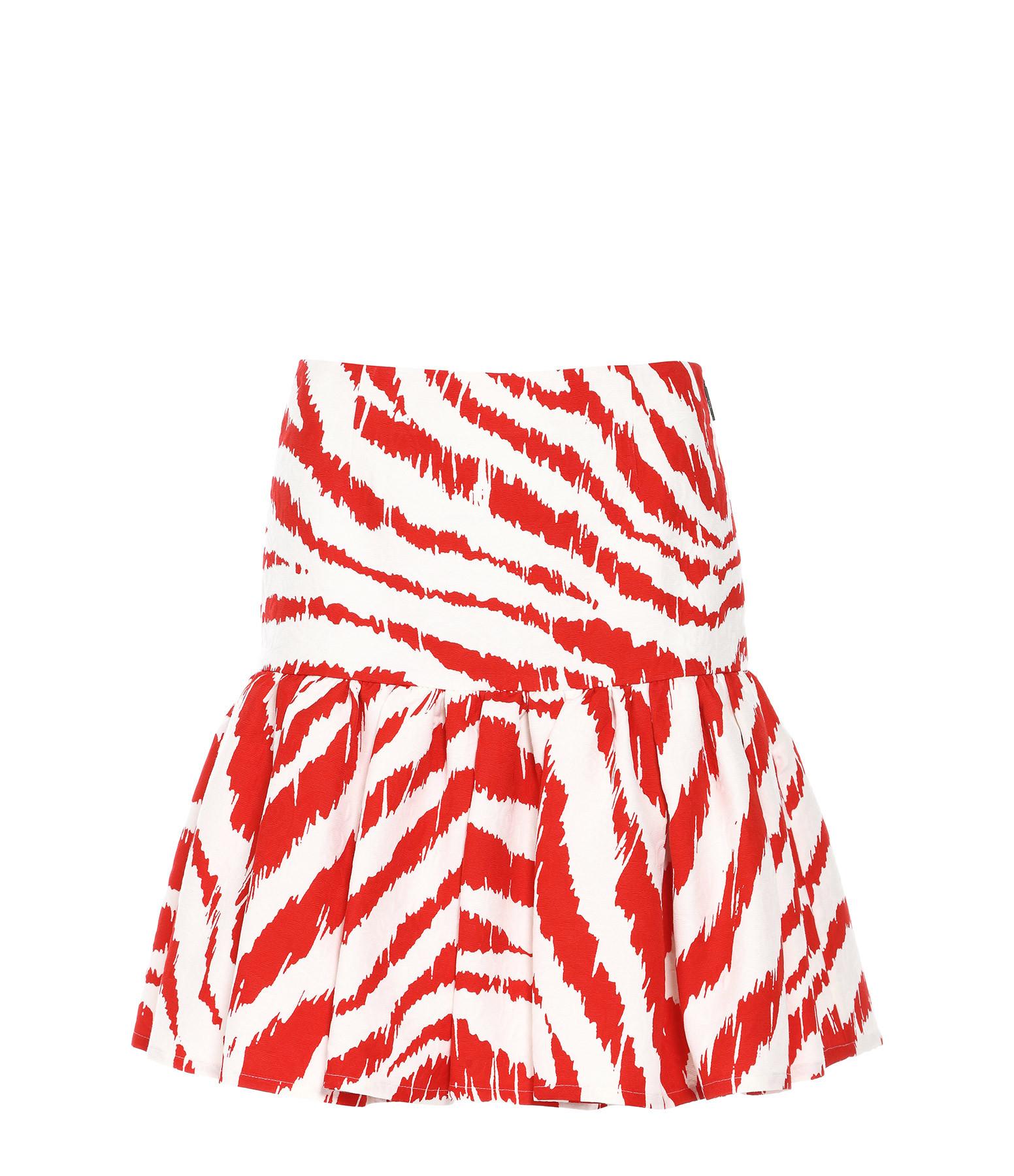 MSGM - Jupe Courte Imprimé Rouge