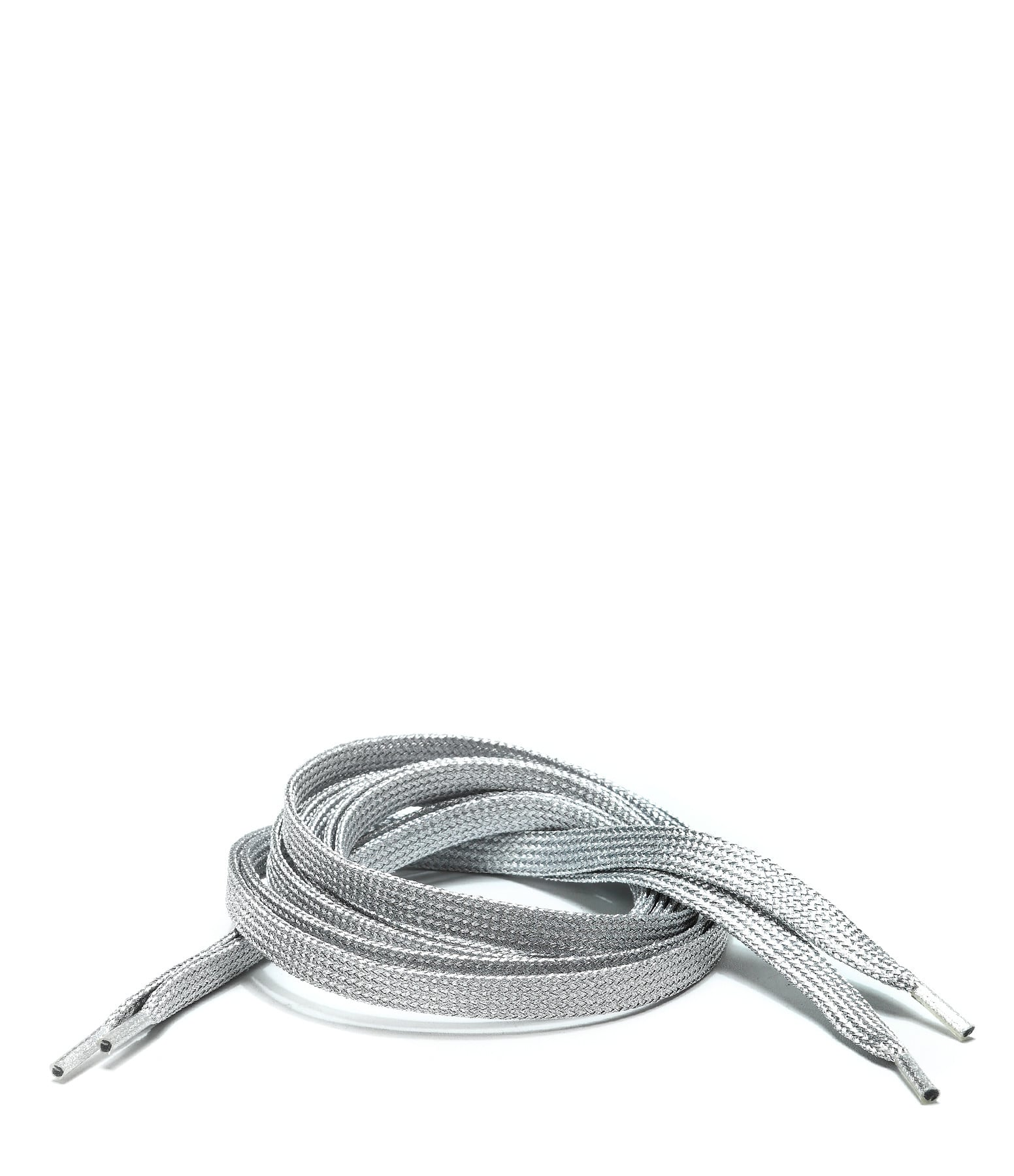 LULLI BASIC - Lacets Plats Argentés 115 cm