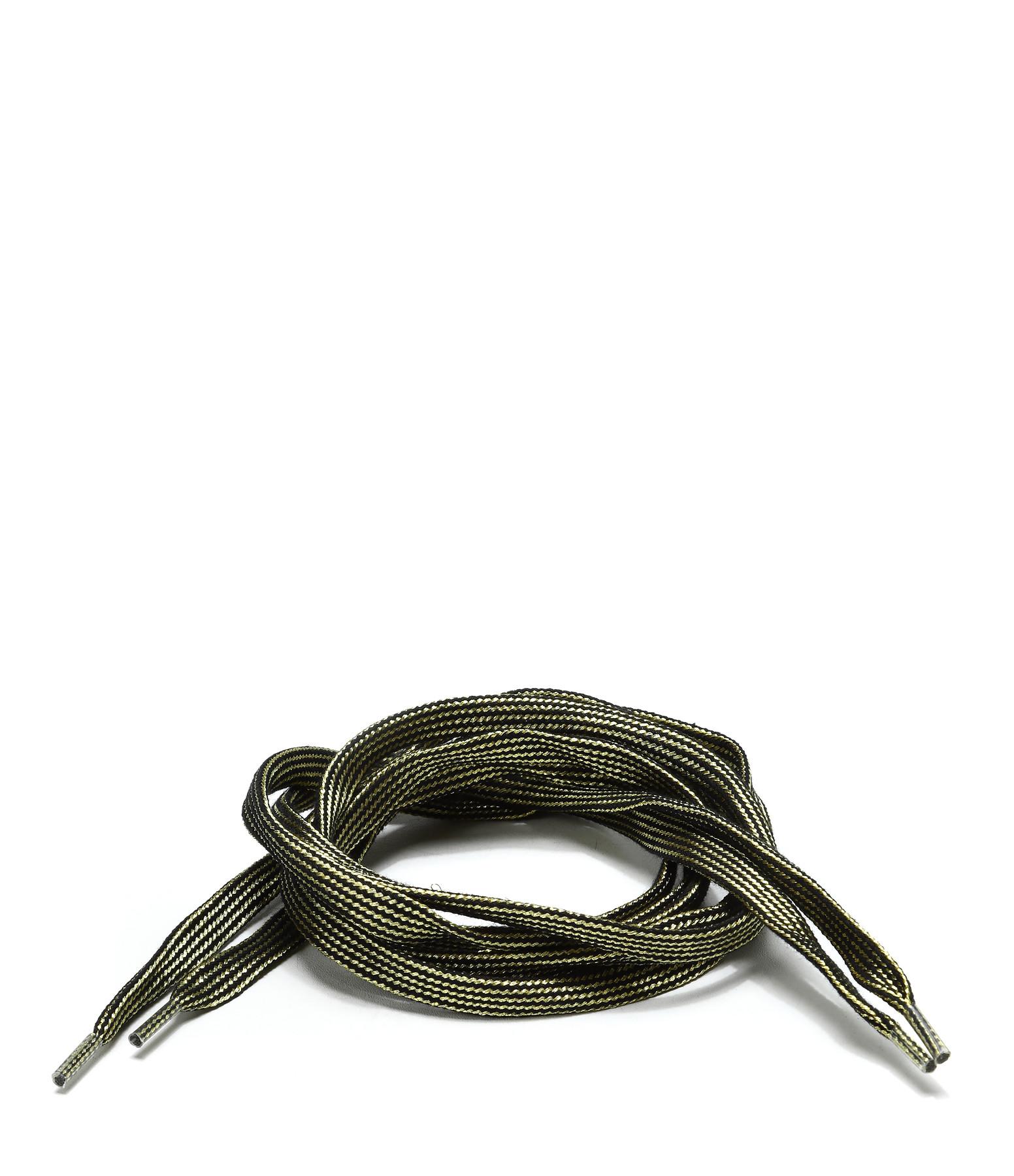 LULLI BASIC - Lacets Plats Noirs Dorés 115 cm