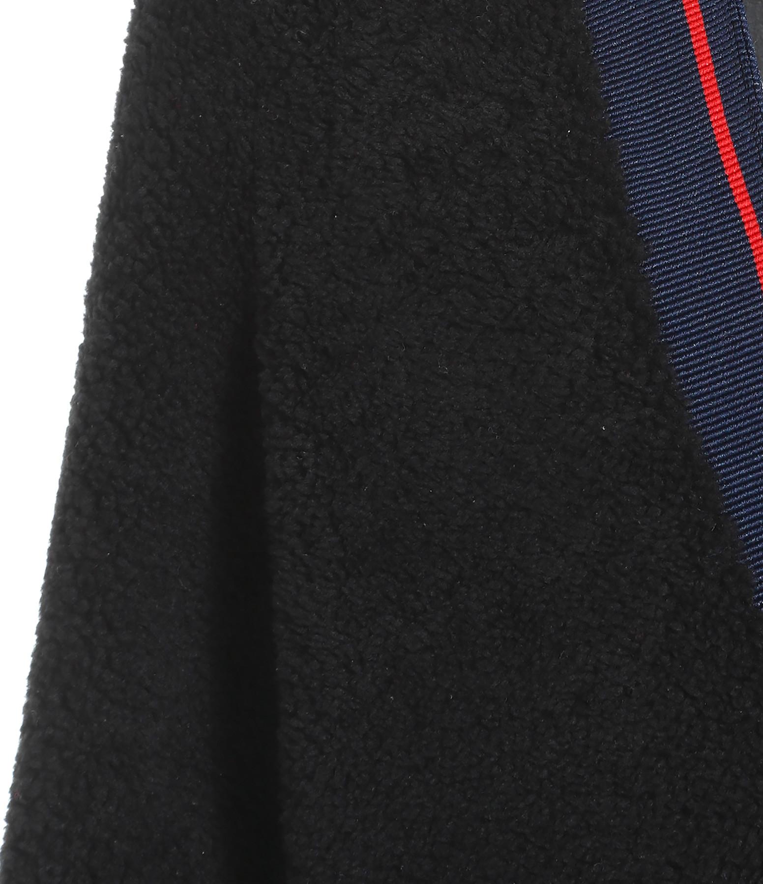 INES & MARECHAL - Manteau Delicieuse Merinos Boucle Noir