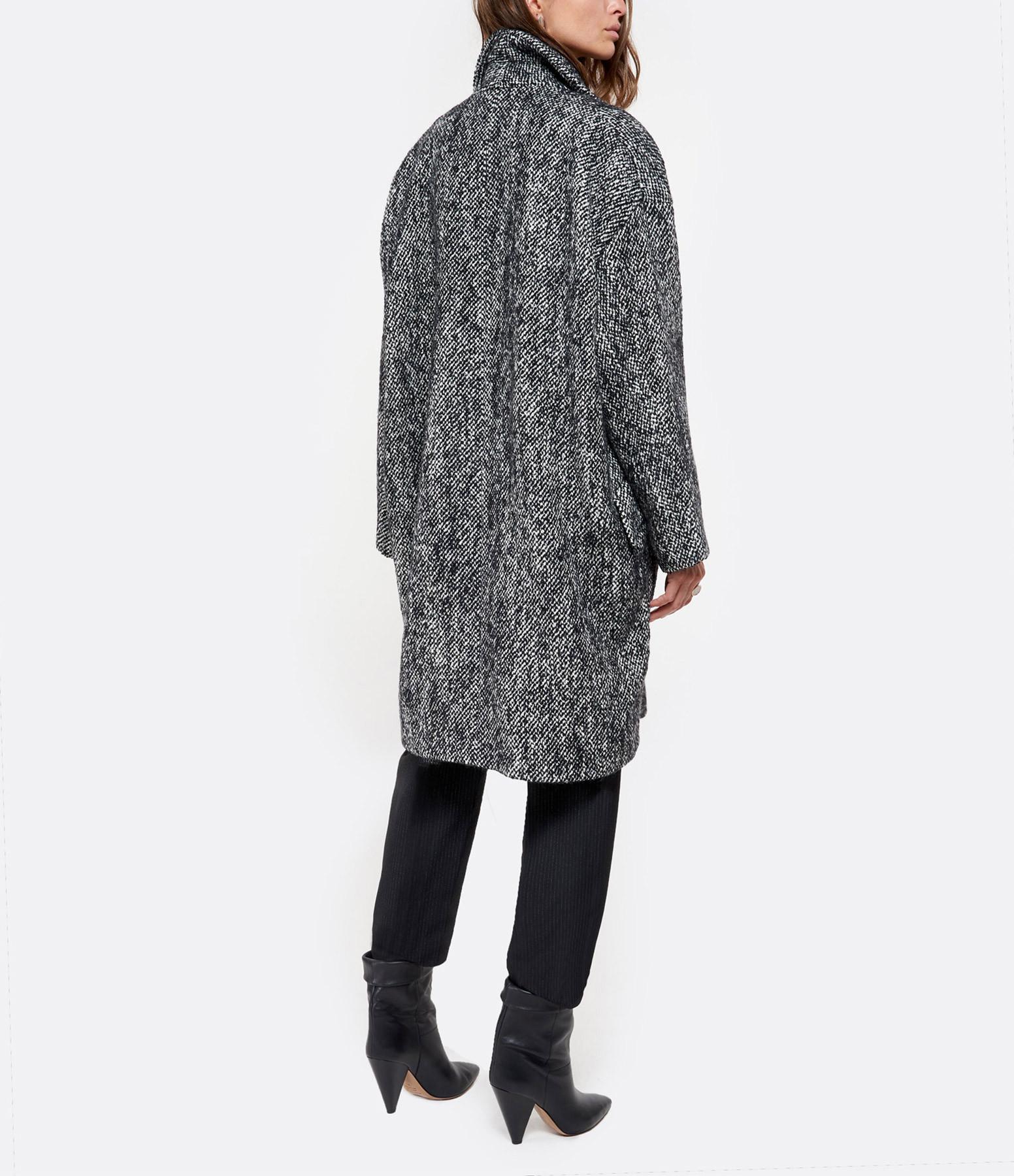 IRO - Manteau Realize Coton Noir Blanc