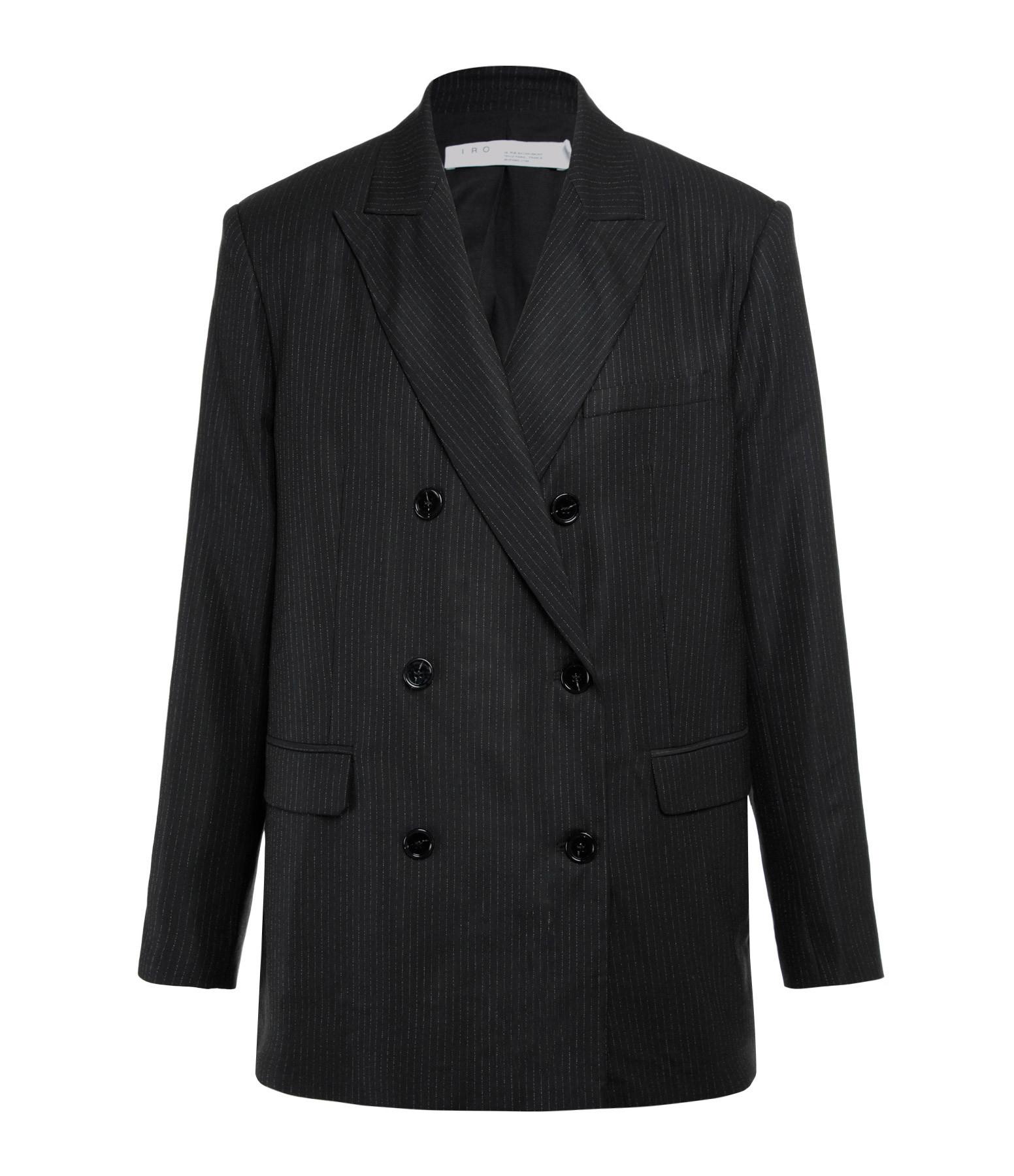 IRO - Veste Blazer Nelisa Coton Noir