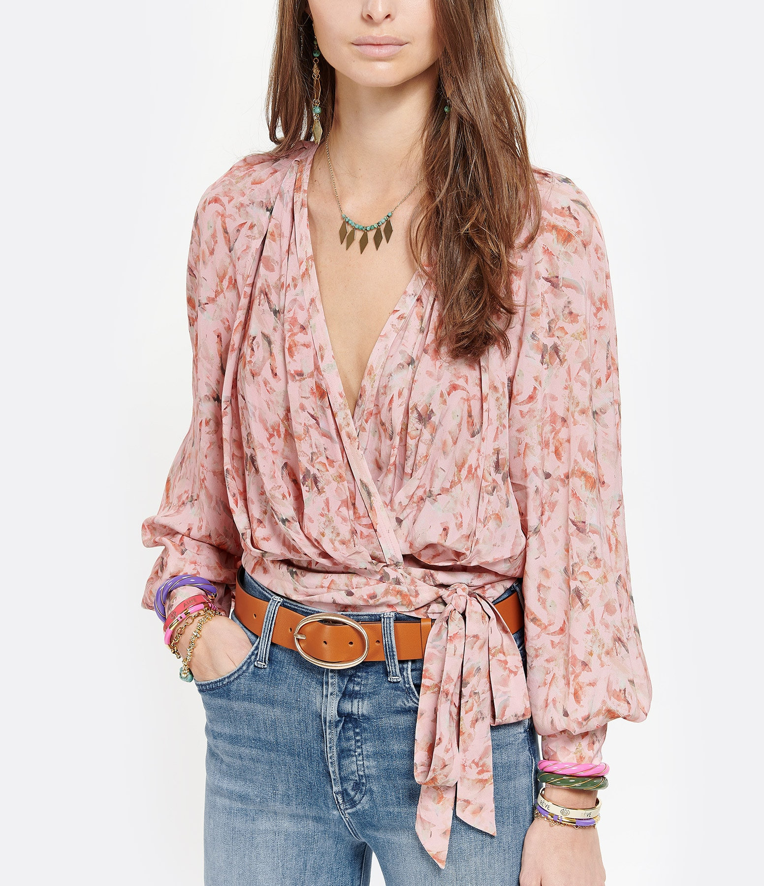 IRO - Top  Azza Rose Orange