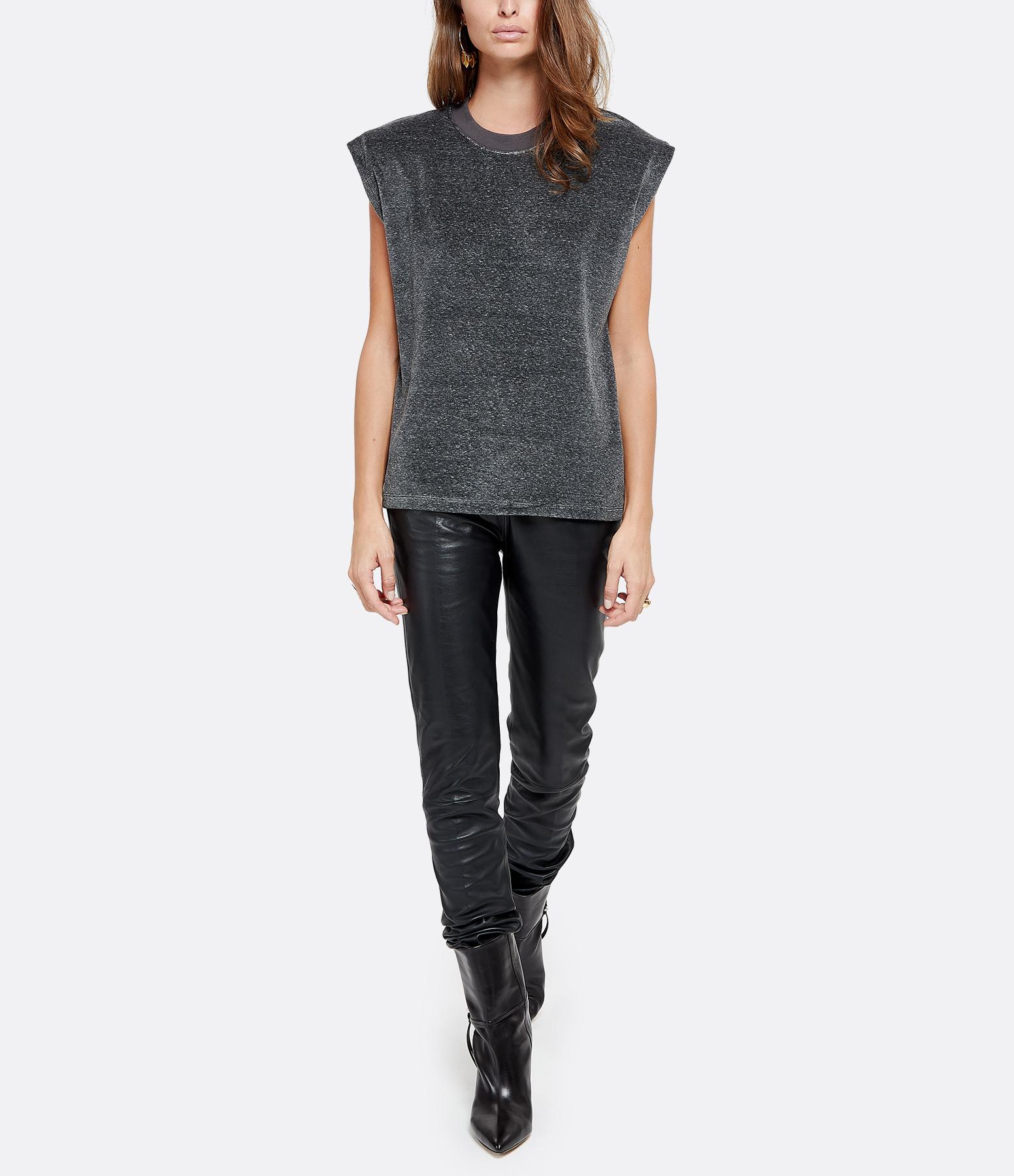 IRO - Tee-shirt Yaru Laine Gris