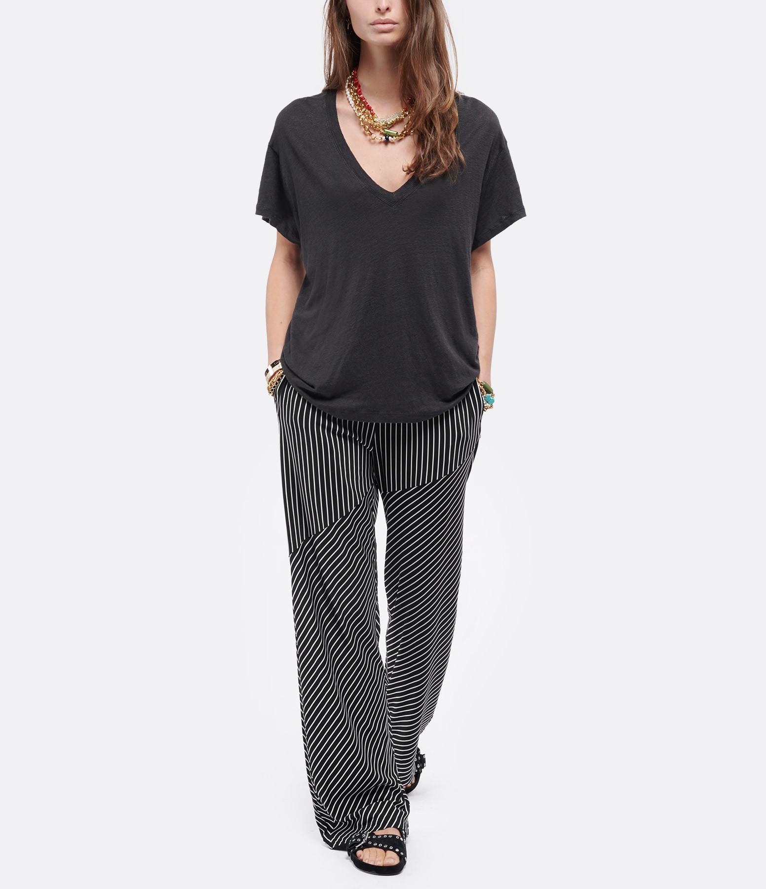 IRO - Tee-shirt Héloïse Lin Noir