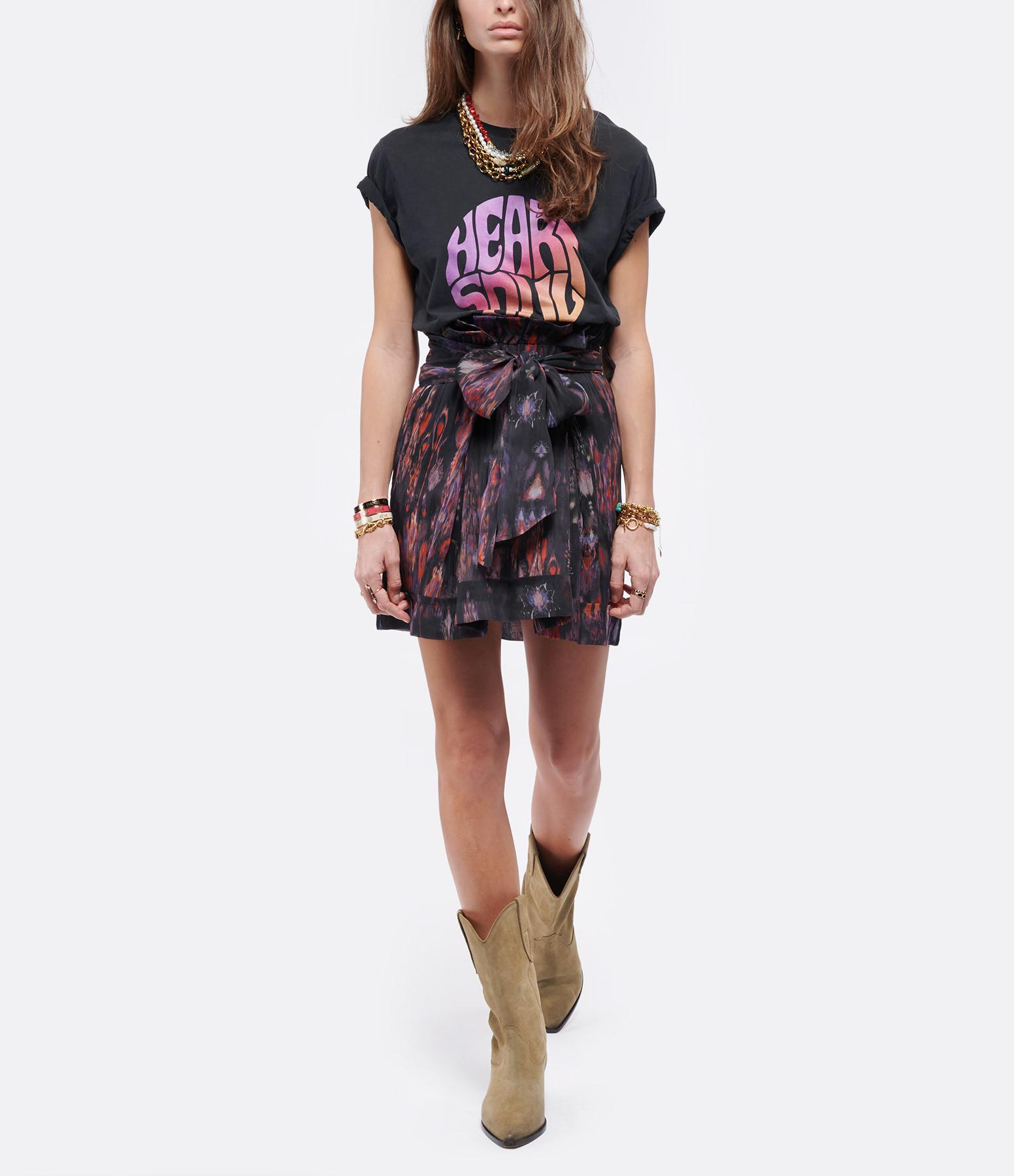 IRO - Tee-shirt Heartso Lyocell Coton Noir