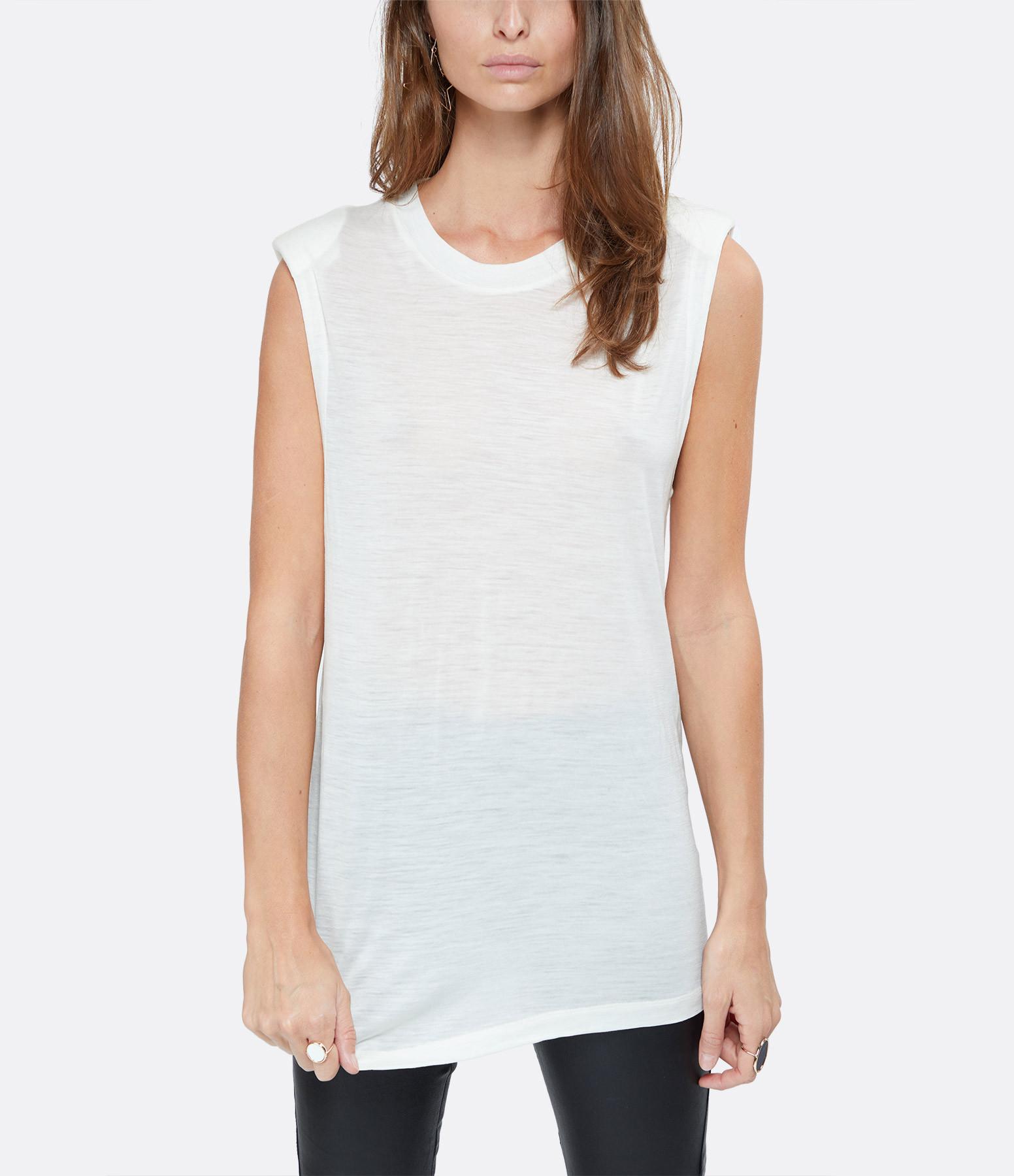 IRO - Tee-shirt Proud Laine Blanc