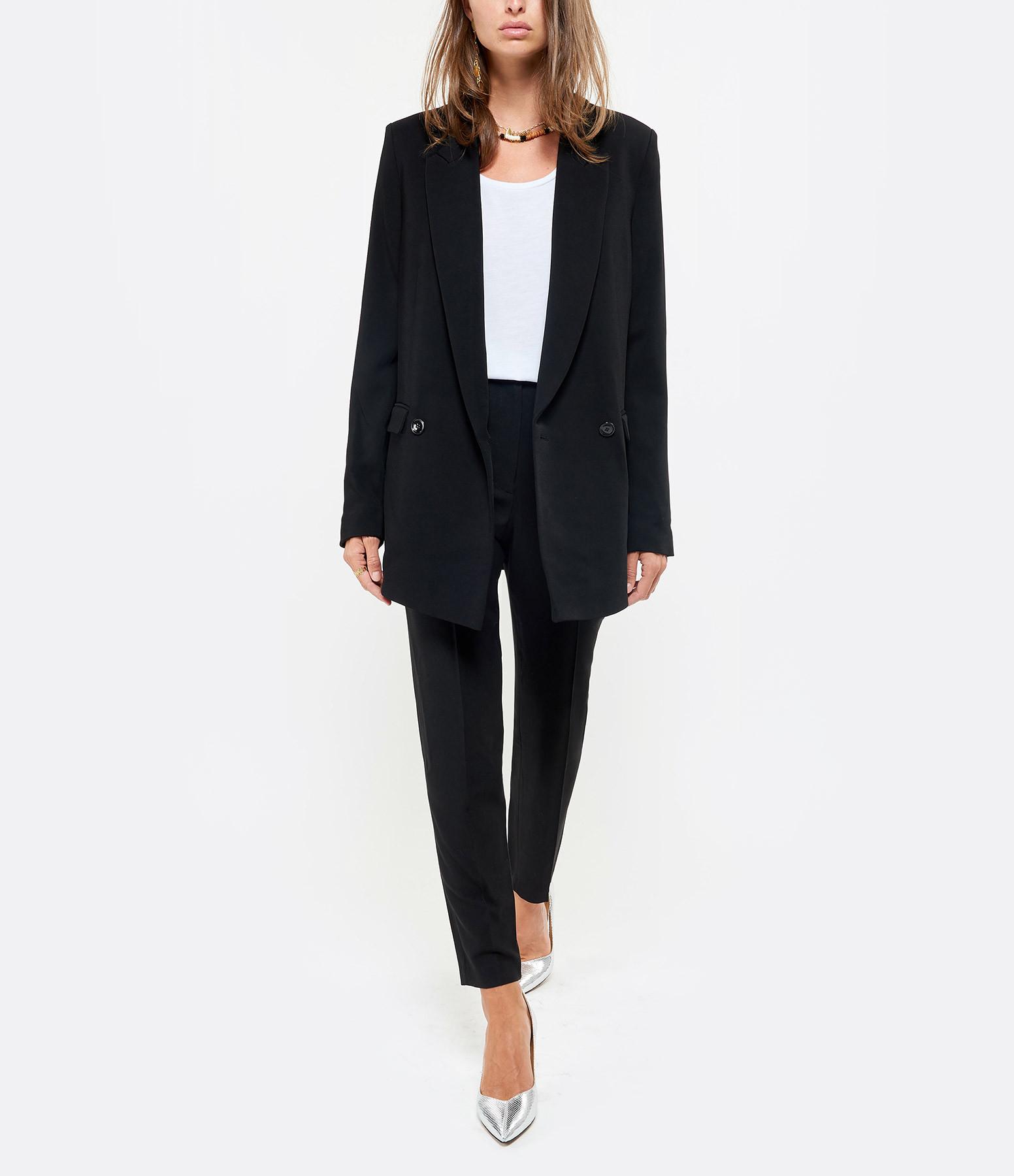 IRO - Pantalon Daya Coton Noir
