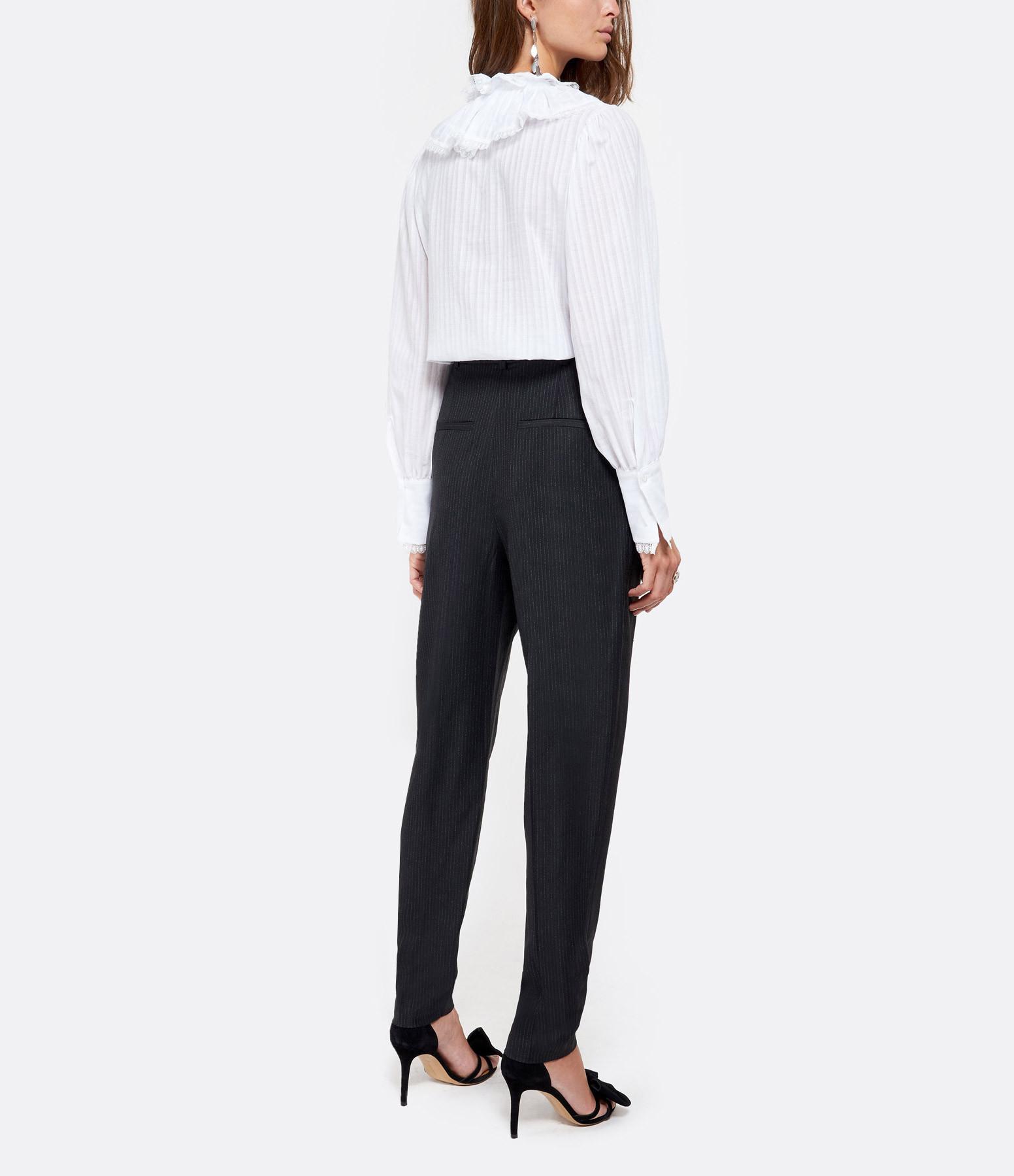 IRO - Pantalon Cairn Coton Noir