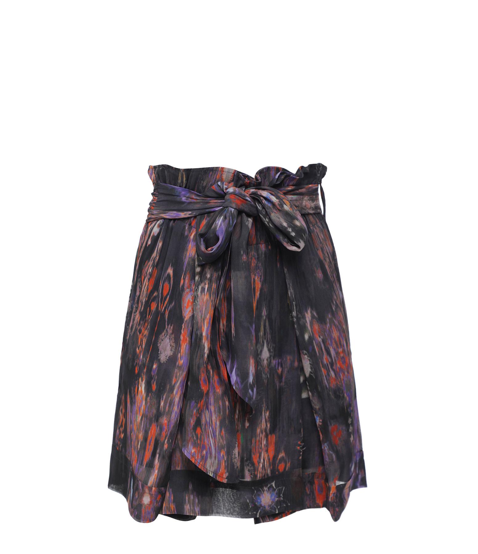IRO - Jupe Joee Noir Multicolore