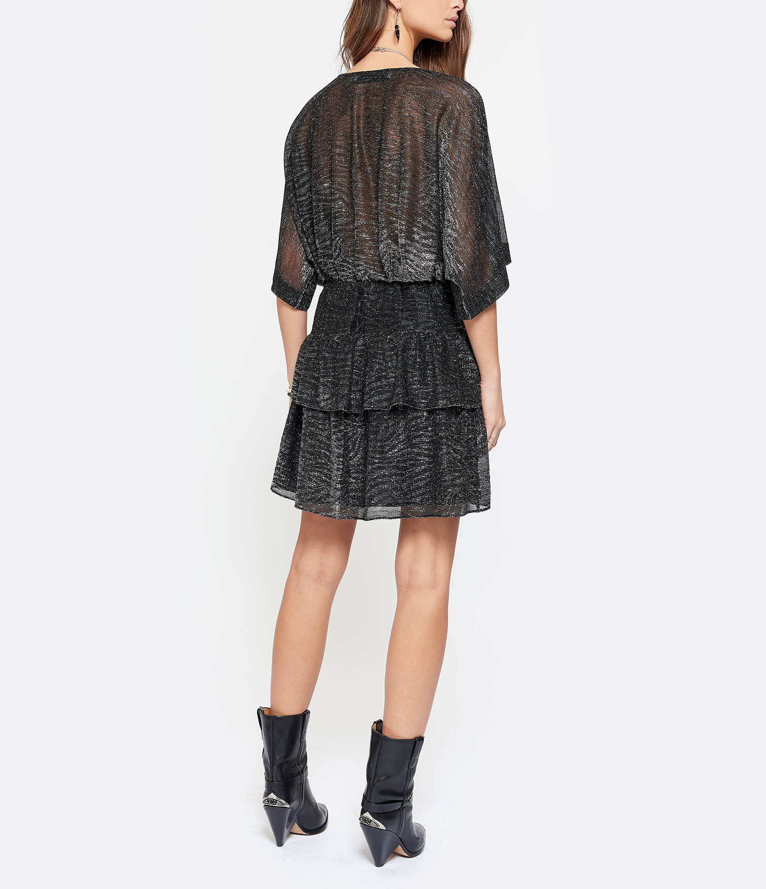 IRO - Robe Wide Lurex Noir