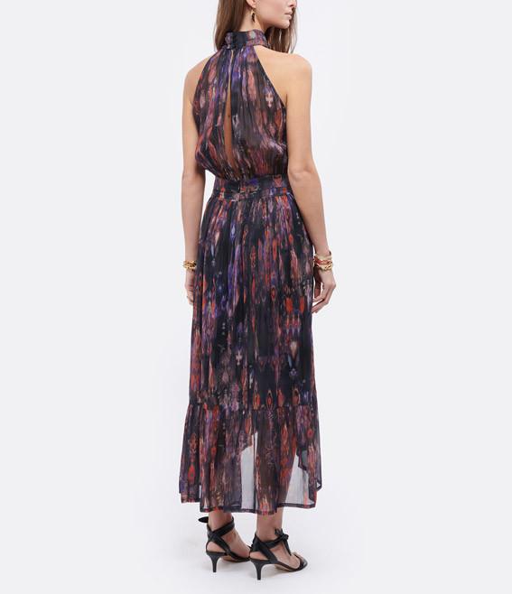 IRO - Robe Fiko Noir Multicolore
