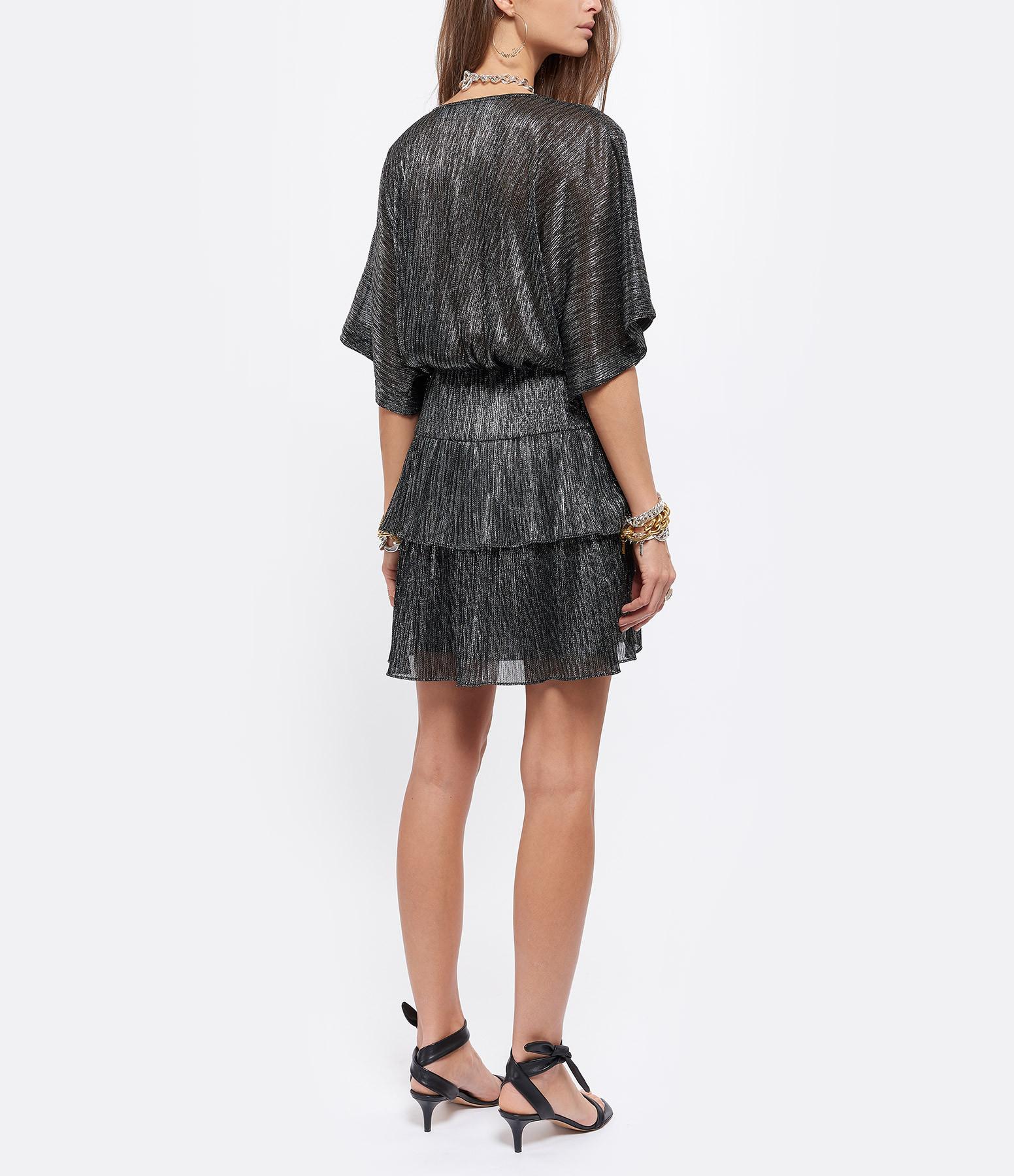 IRO - Robe Wide Noir Argenté, Exclusivité Lulli