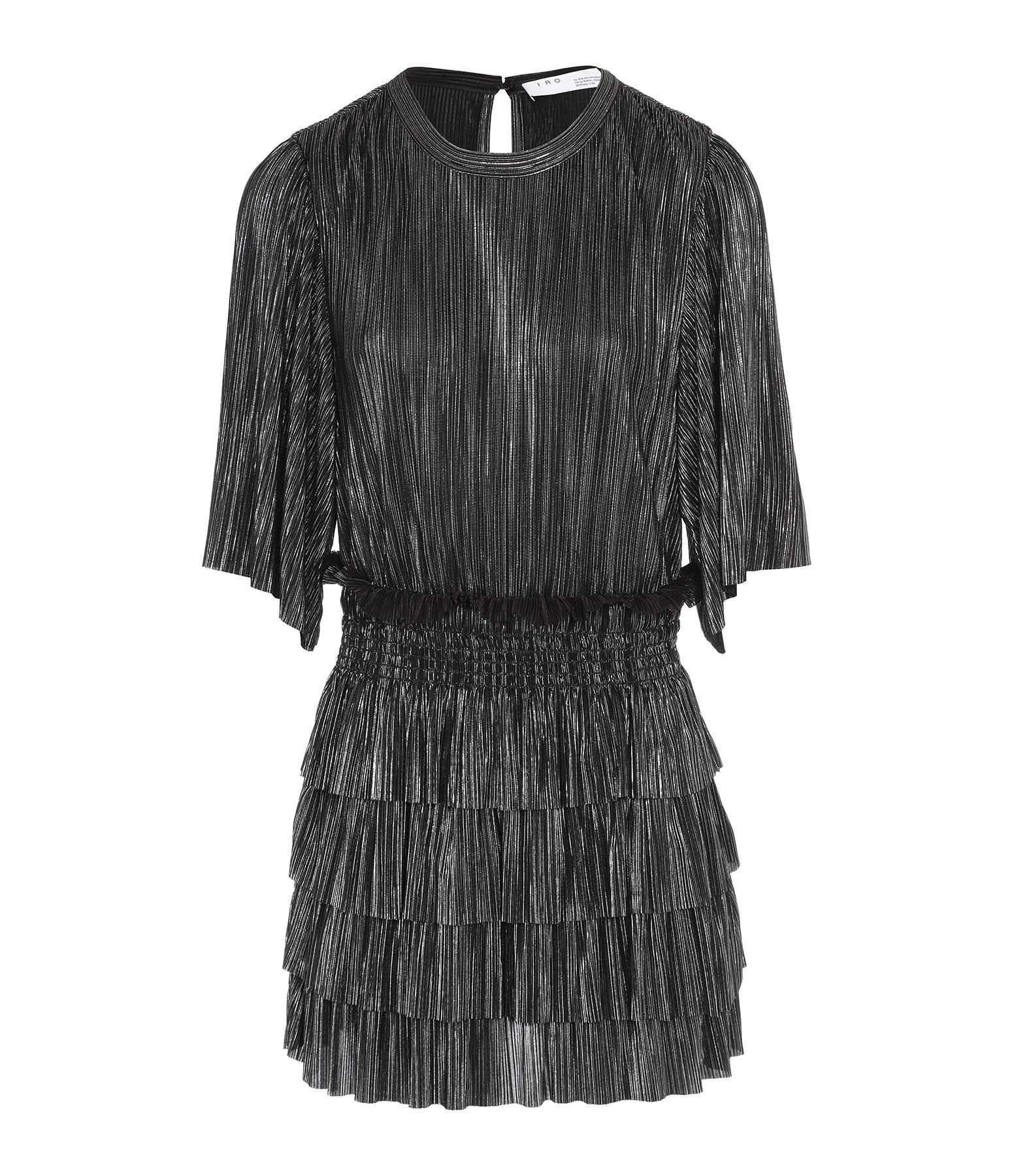 IRO - Robe Cuzco Noir Argenté