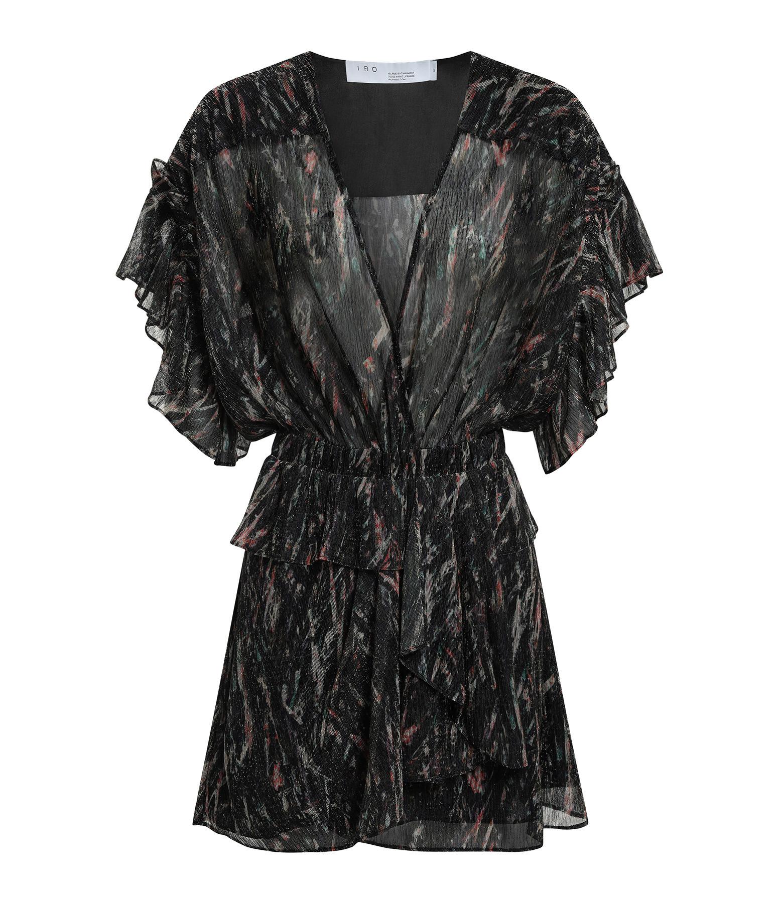IRO - Robe Buoux Multicolore Noir
