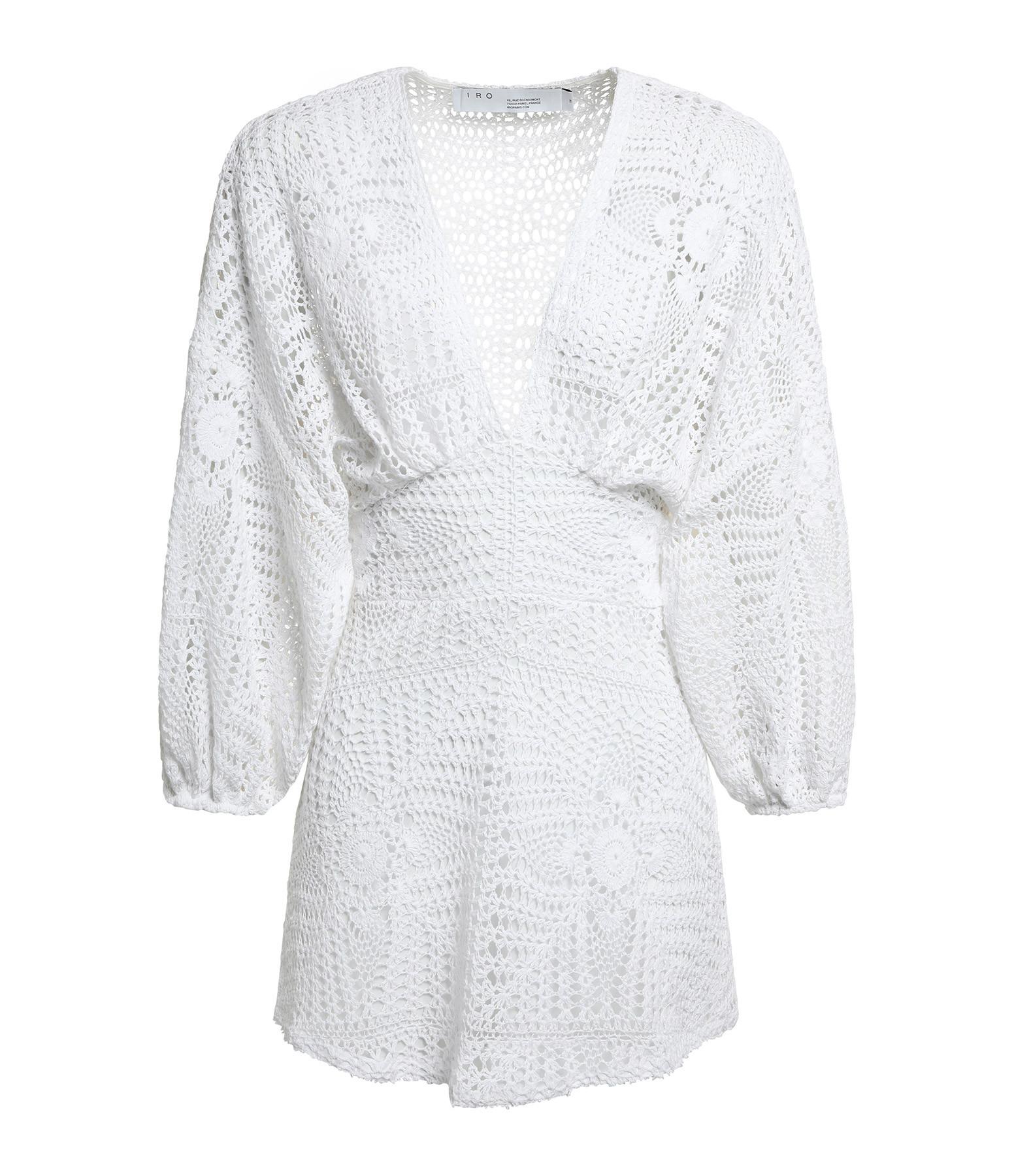 IRO - Robe Cres Coton Blanc