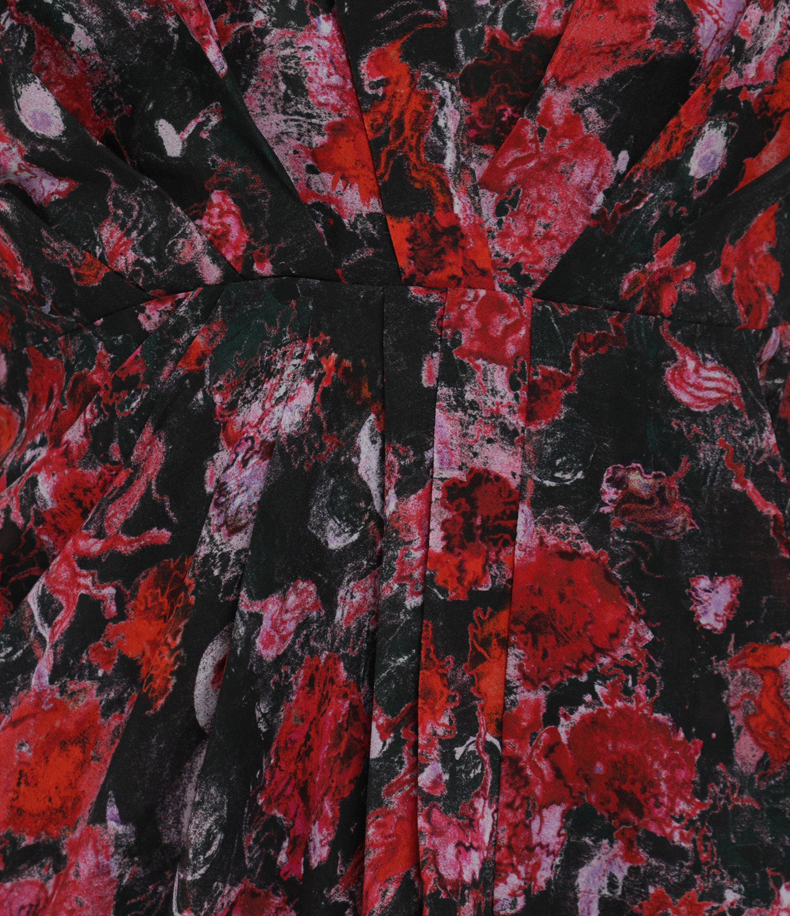 IRO - Robe Forrie Noir Rouge