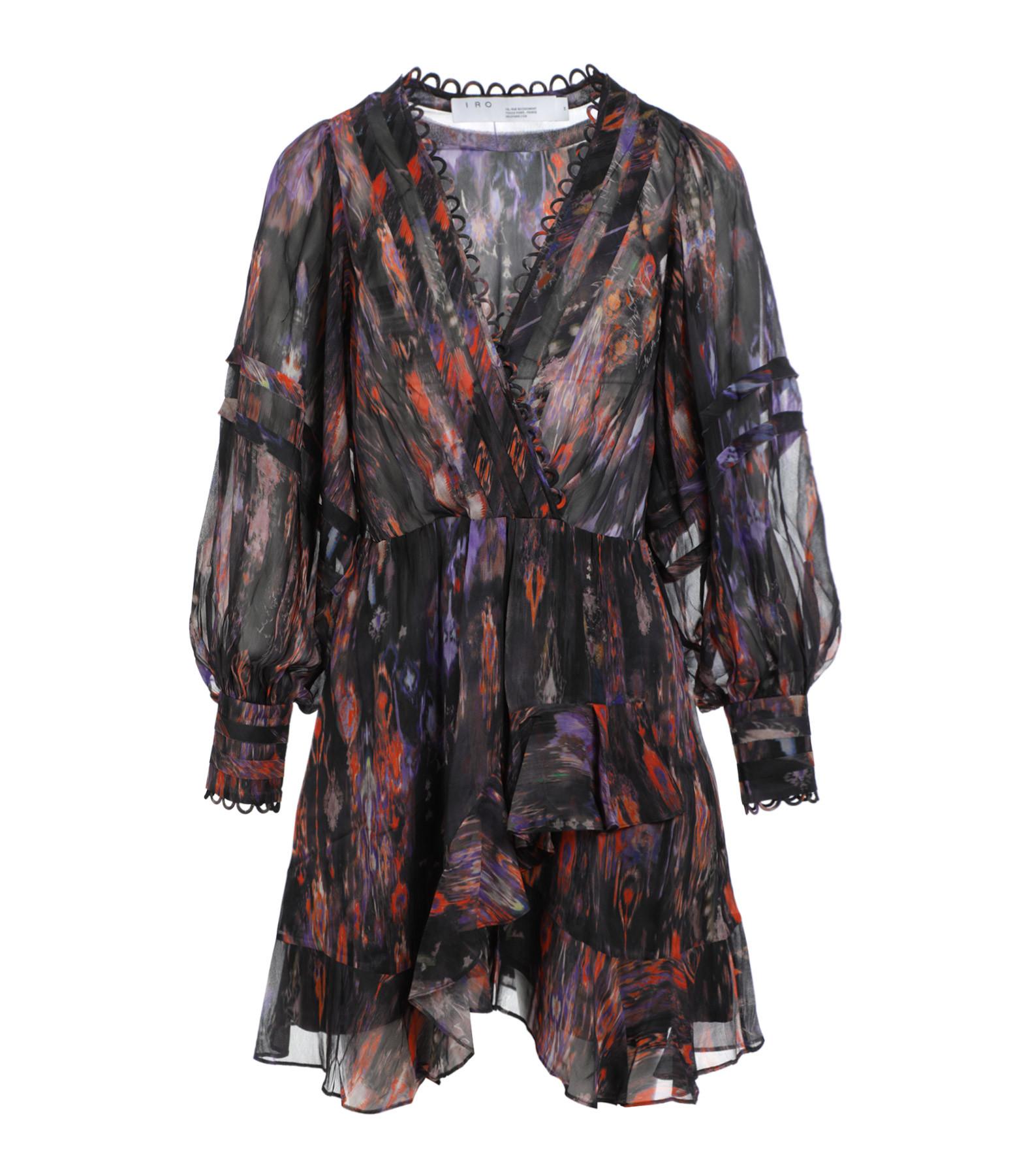 IRO - Robe Kolmi Noir Multicolore