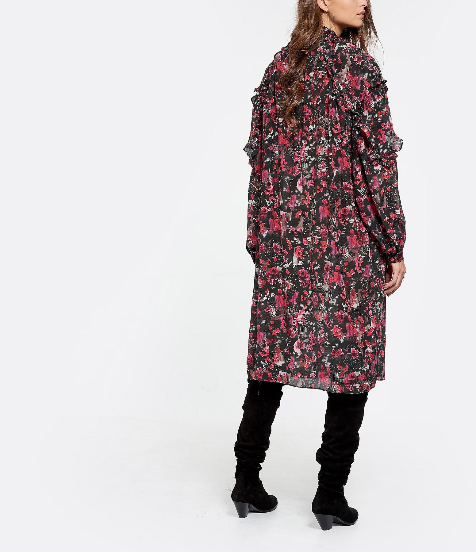 IRO - Robe Equip Soie Rose