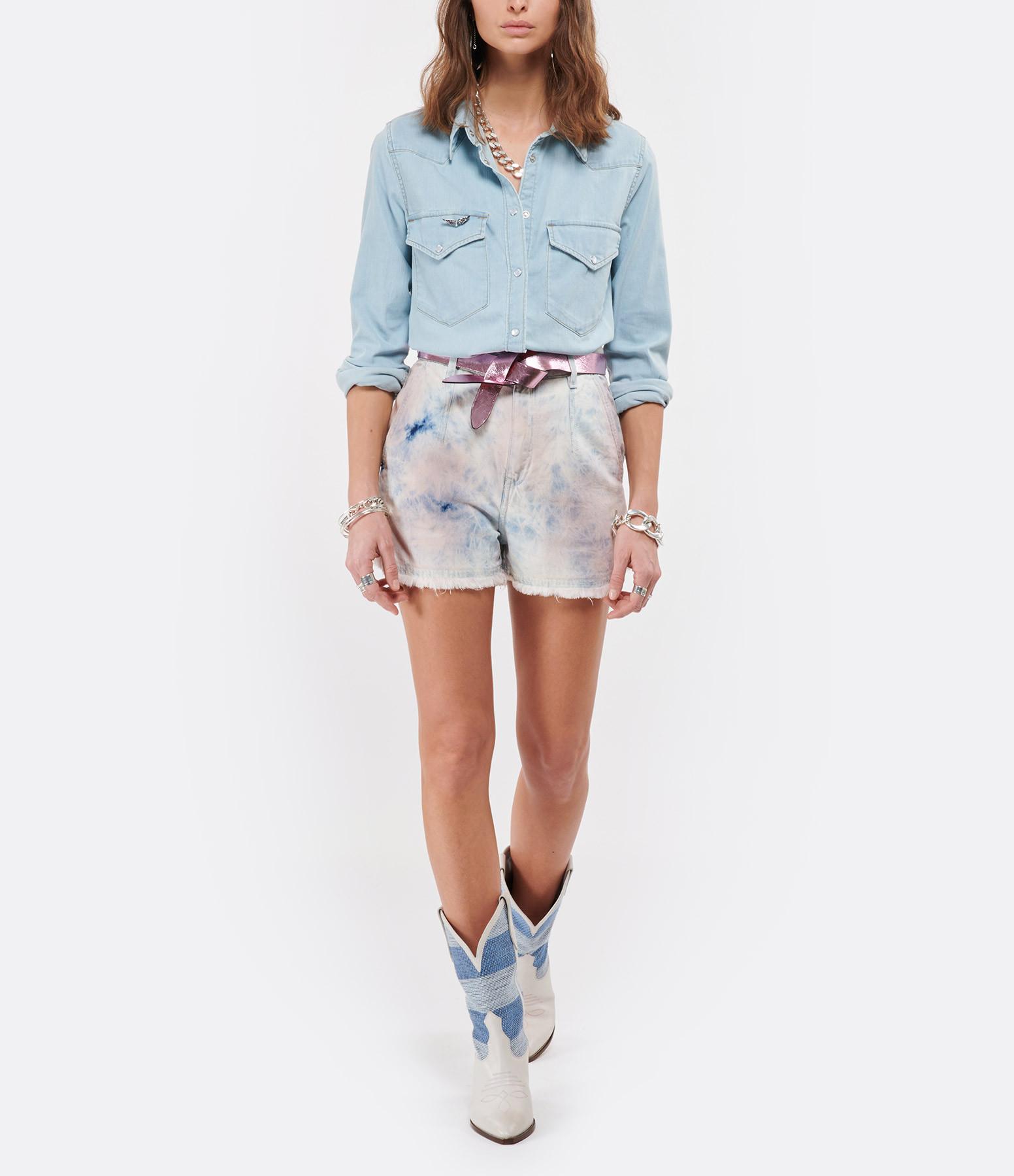 IRO - Short Popi Coton Bleu Rose