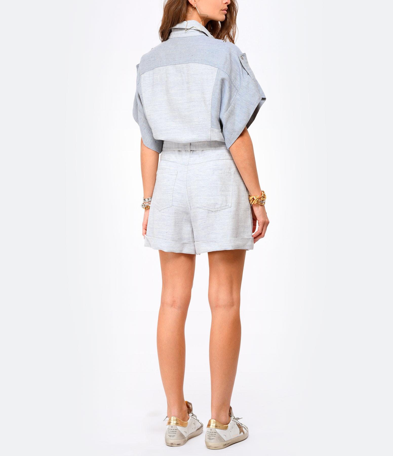 IRO - Combinaison Landemon Lin Coton Bleu