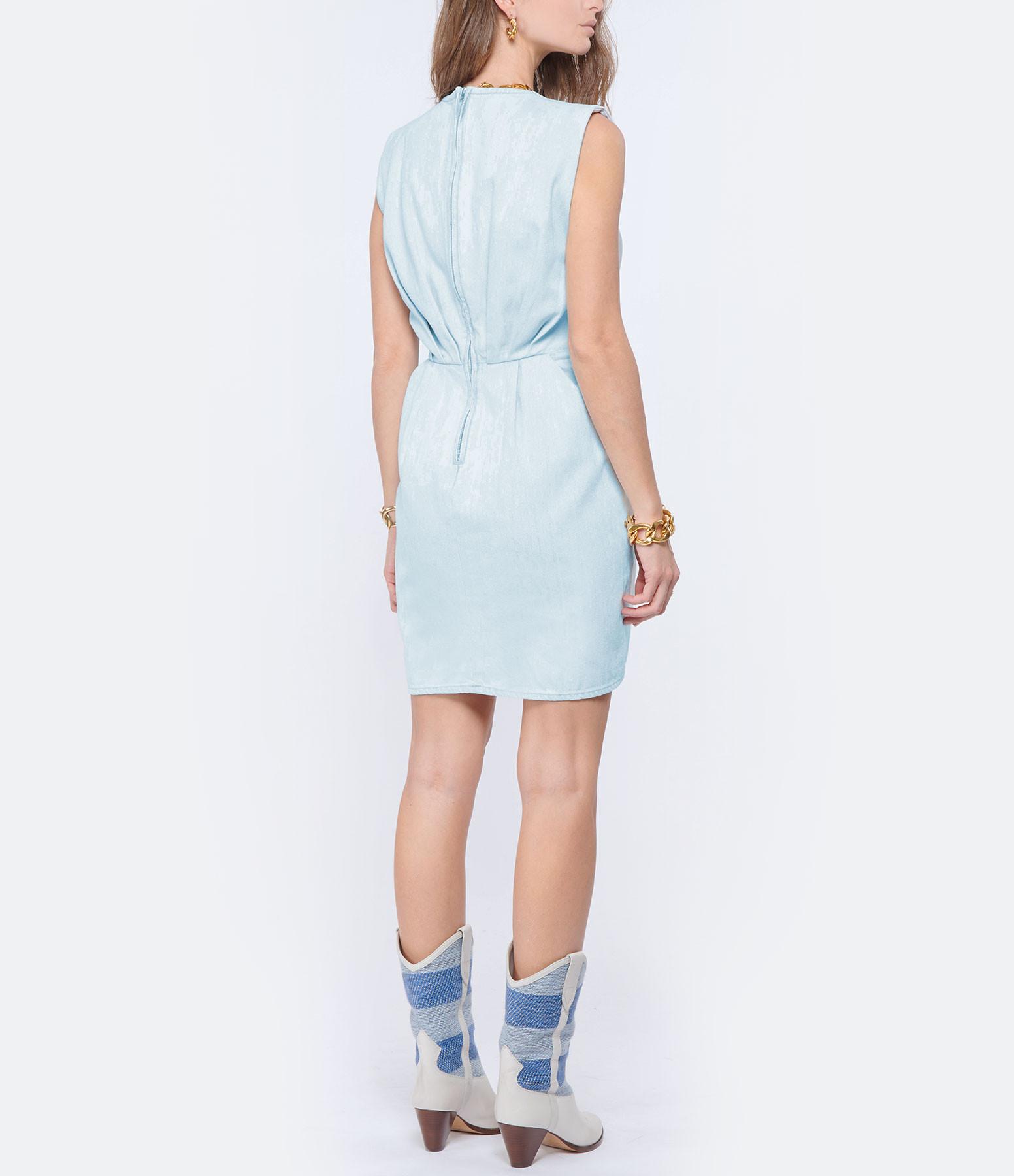 IRO - Robe Marg Coton Bleu