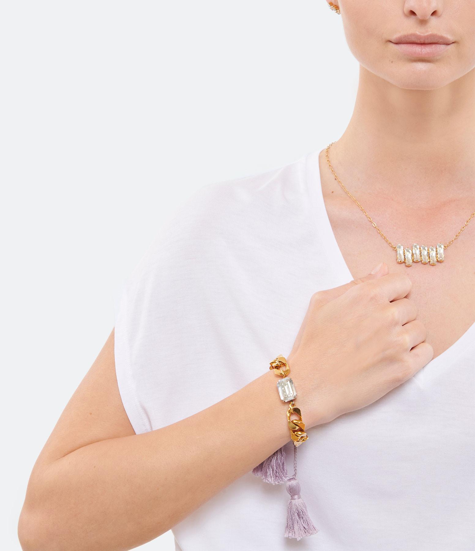 ISOBEL - Bracelet Scarlett Lilas Laiton Doré