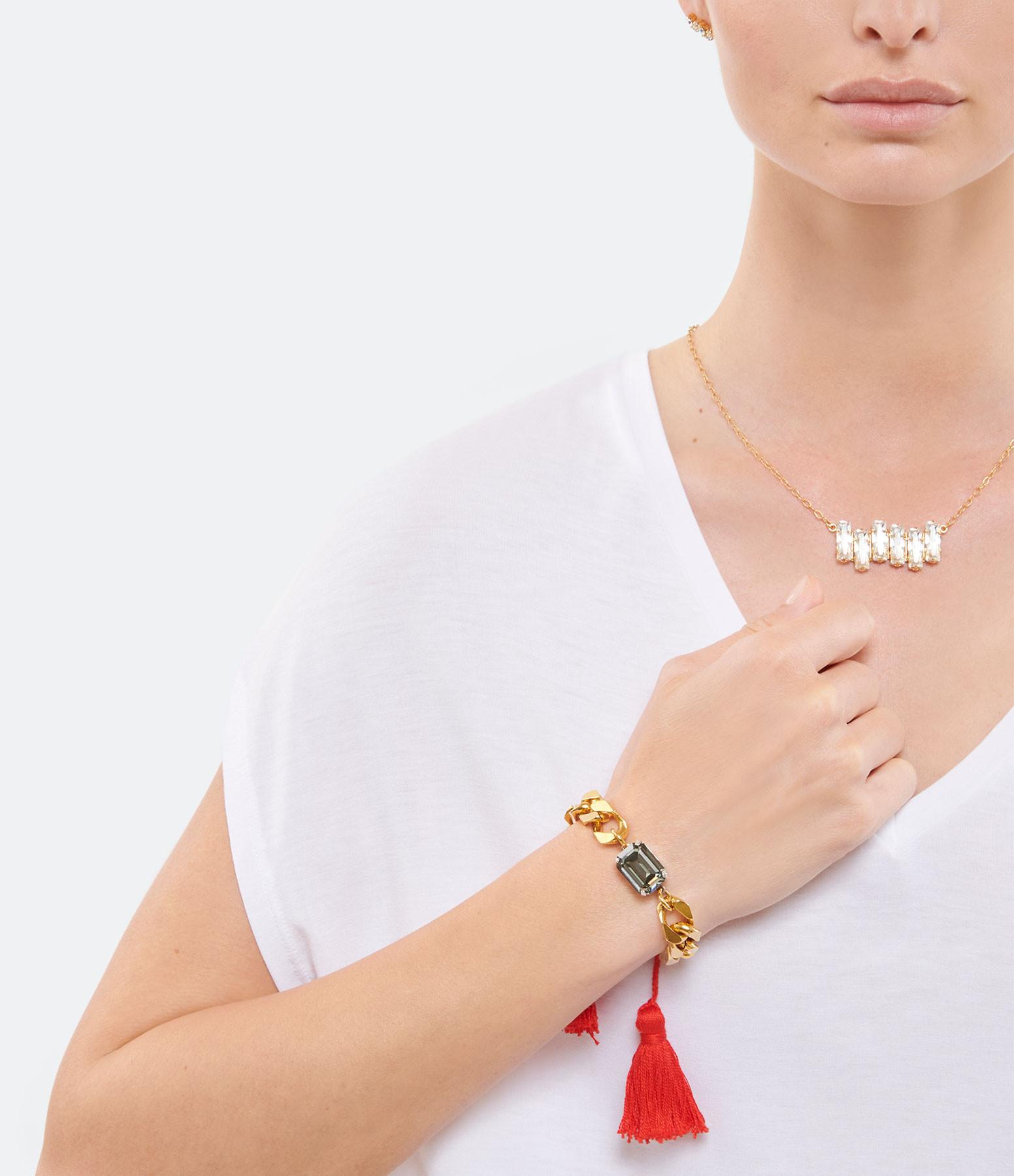 ISOBEL - Bracelet Scarlett Rouge Laiton Doré