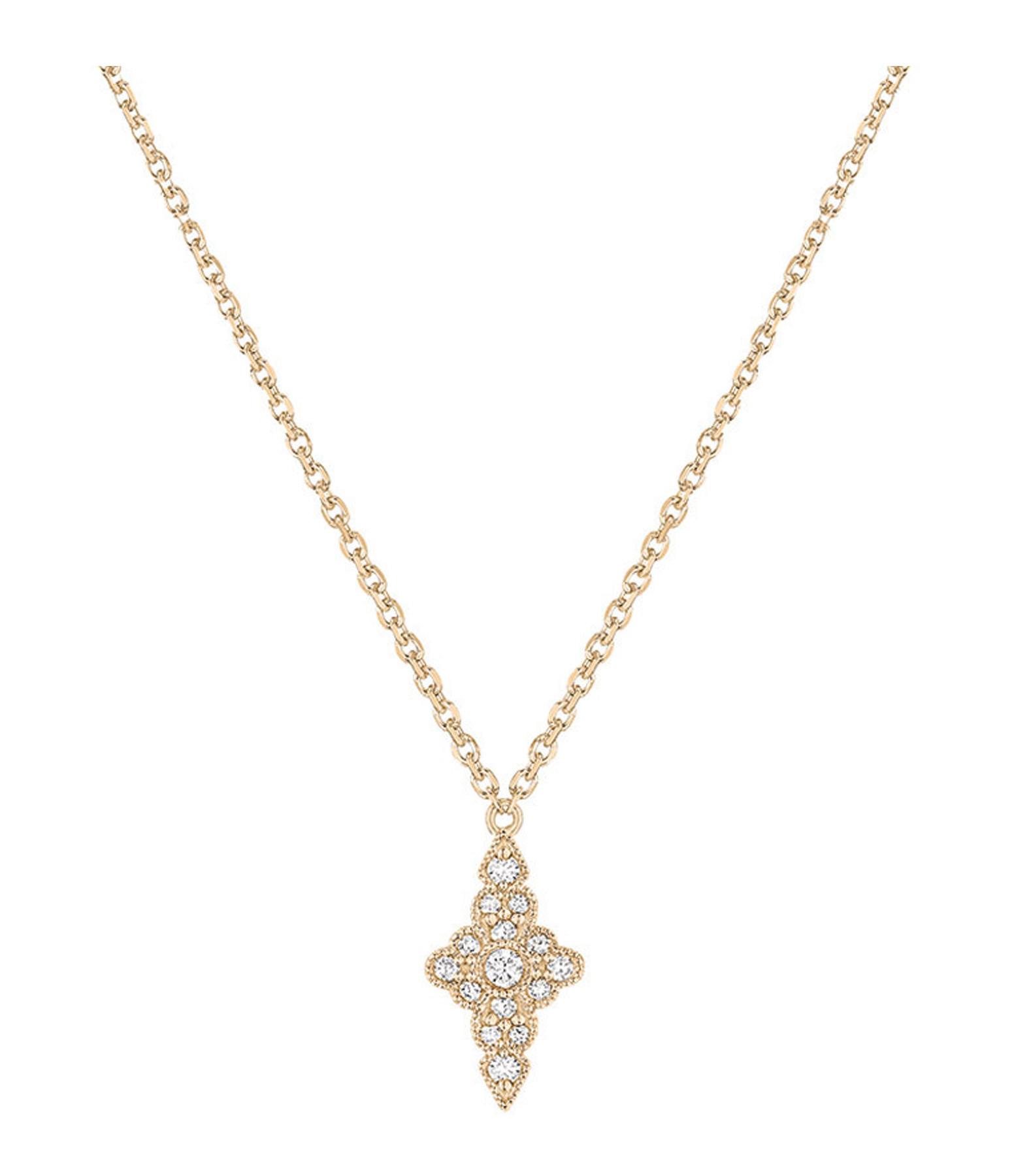 STONE PARIS - Collier Jade Diamants Or Jaune