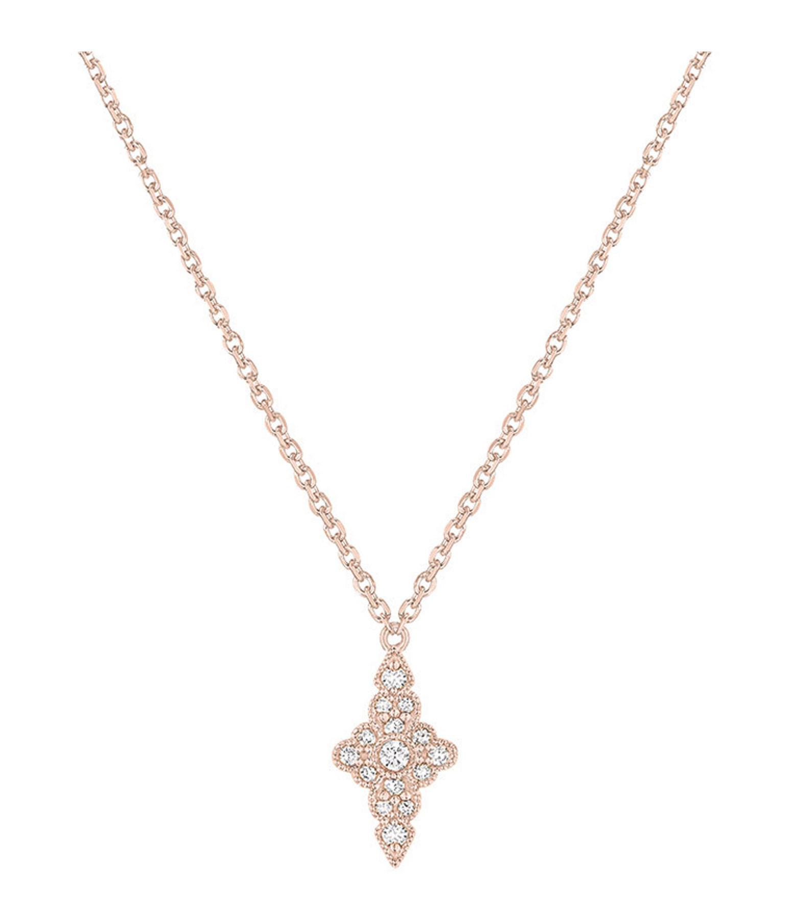 STONE PARIS - Collier Jade Diamants Or Rose