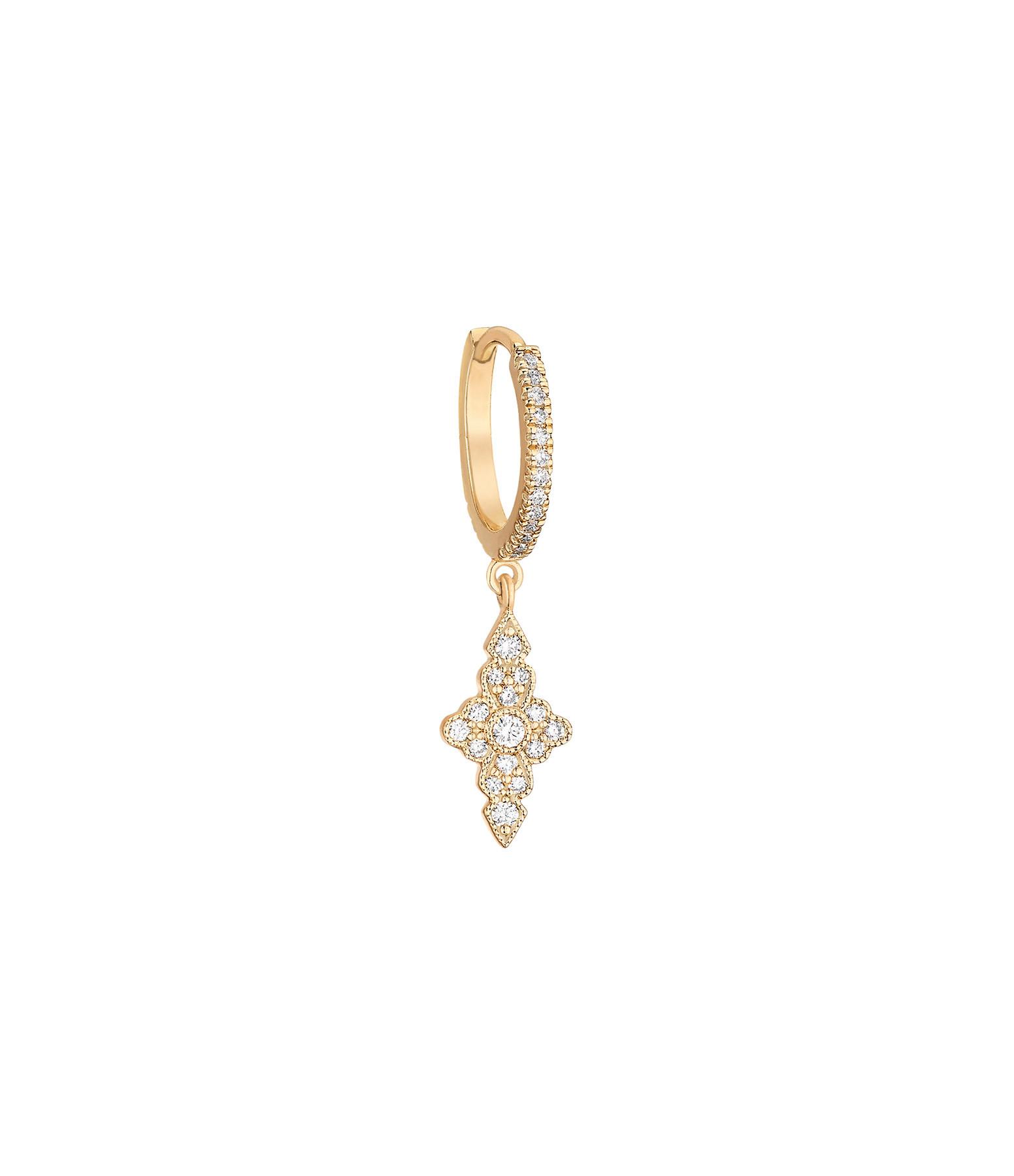 STONE PARIS - Mini Créole Jade Diamants Or Jaune (unité)